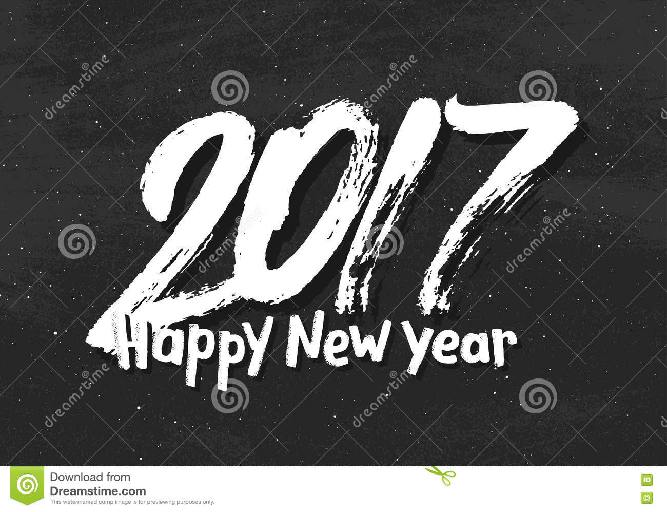 Happy New Year 2017 Greetings On Black Chalkboard Stock Vector  Image 78408358