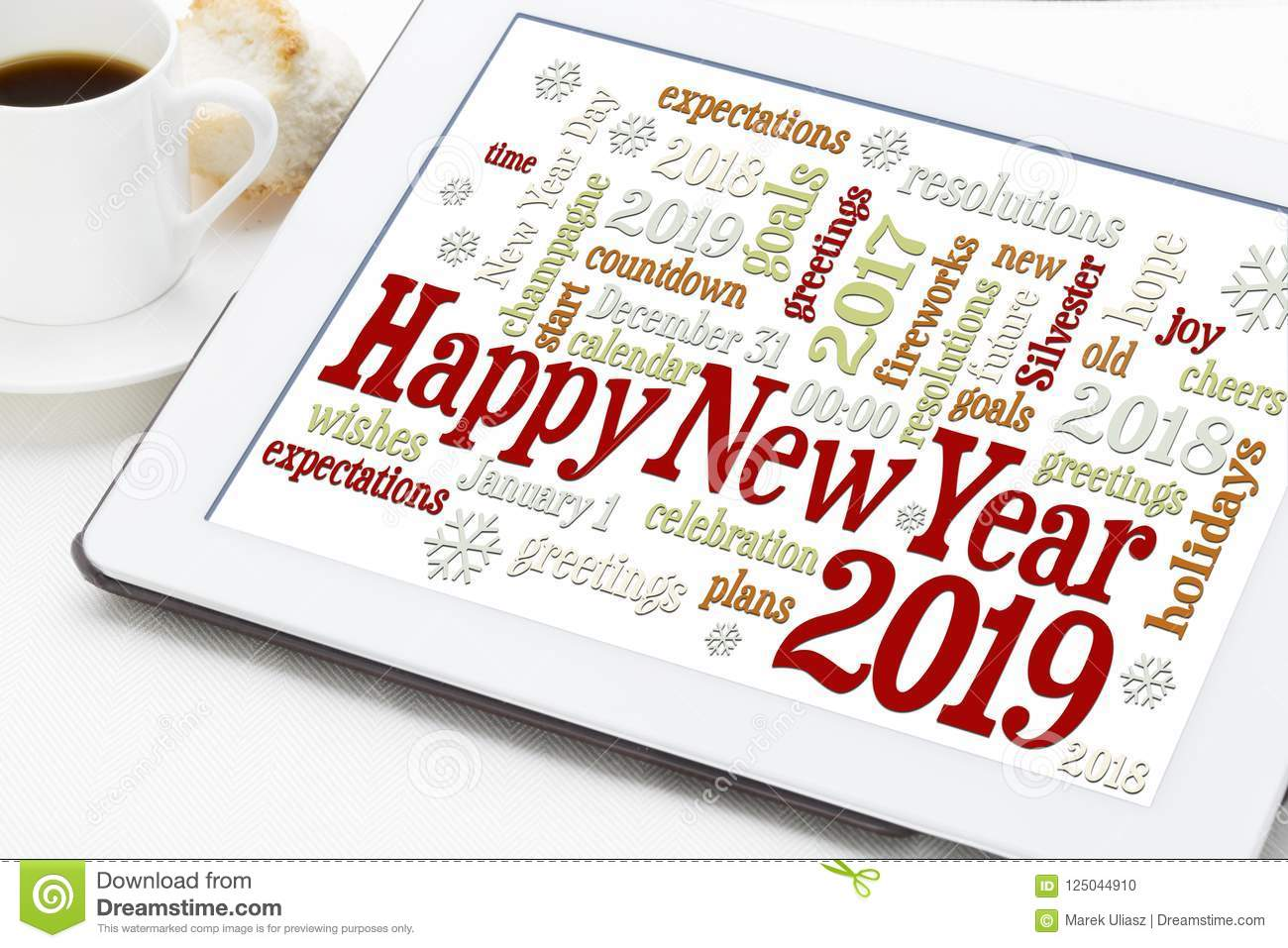 Happy New Year 2019 word cloud