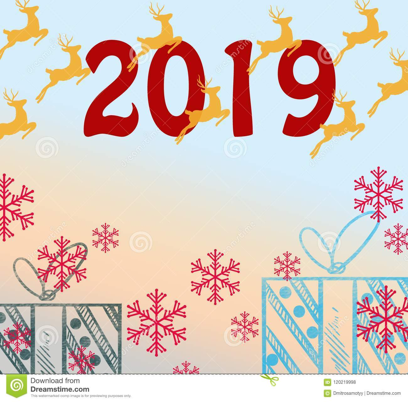 2019 happy new year greetings holidays colored background bubbles shape pattern funny isolated