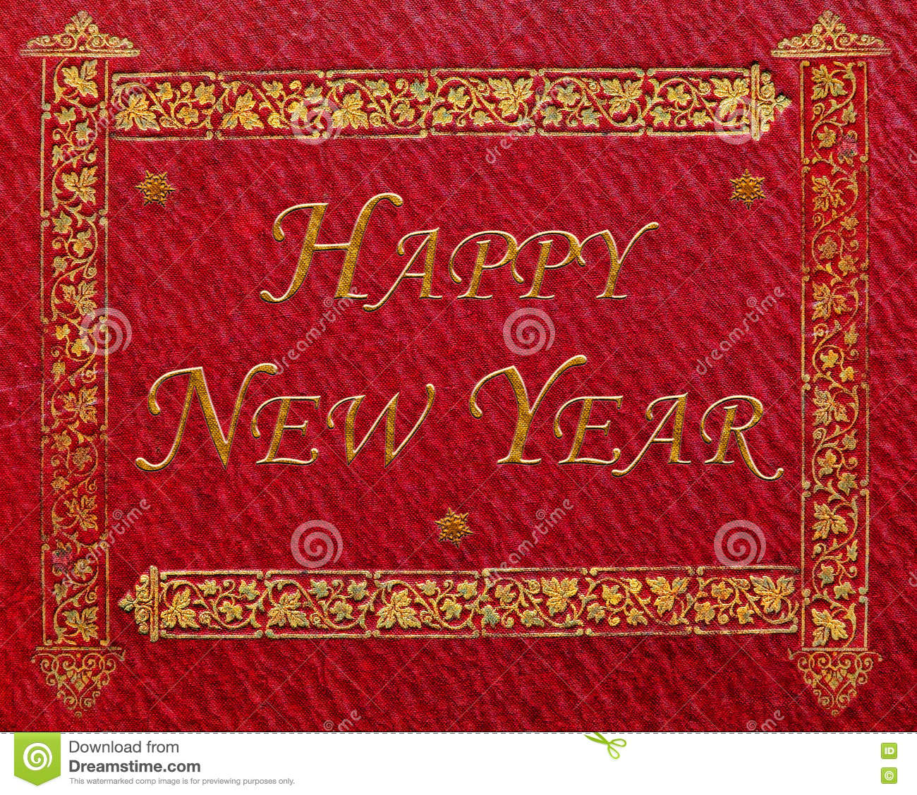 Book Cover Texture Year : Happy new year stock photo image