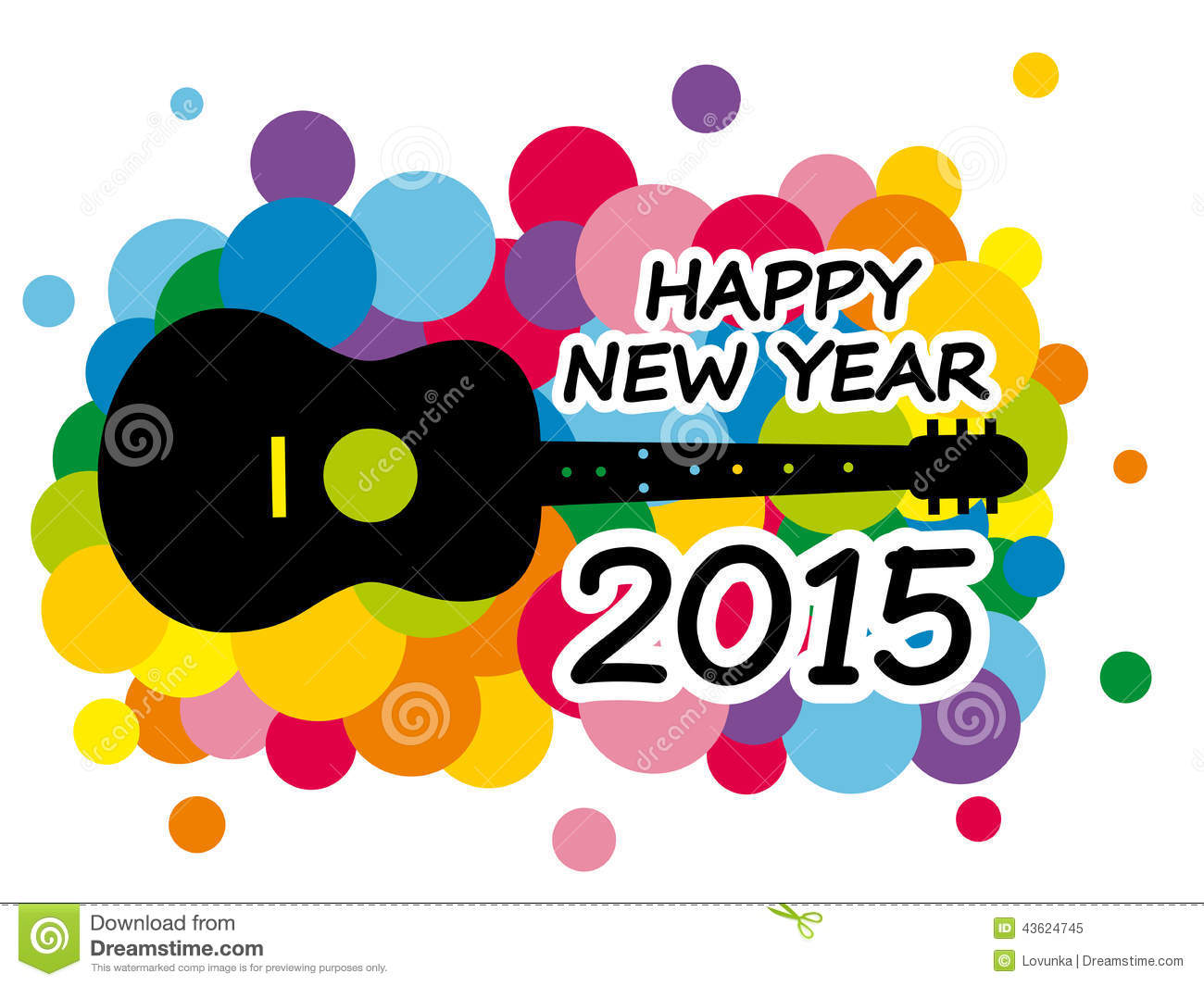 Happy new year stock vector image of audio childish 43624745 - Happy new year sound europe ...