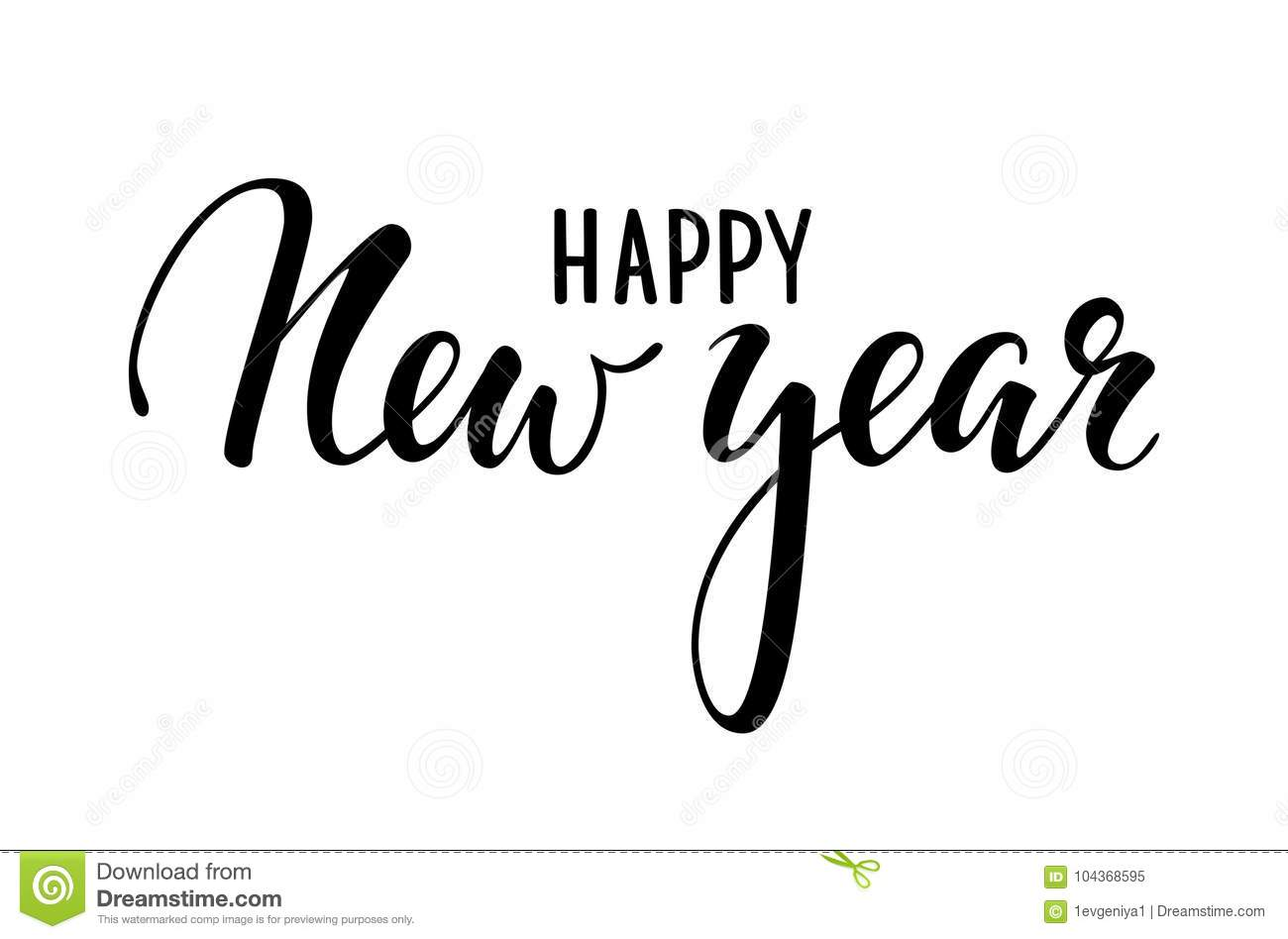 Happy New Year Lettering Design 22