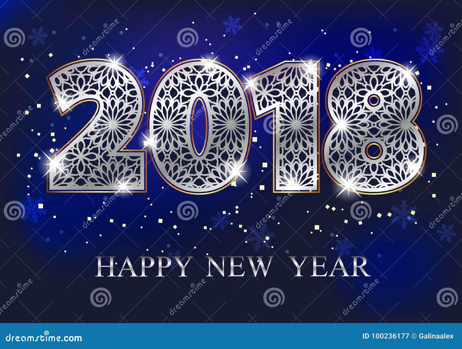 2018 Happy New Year Stock Vector Illustration Of Glow 100236177