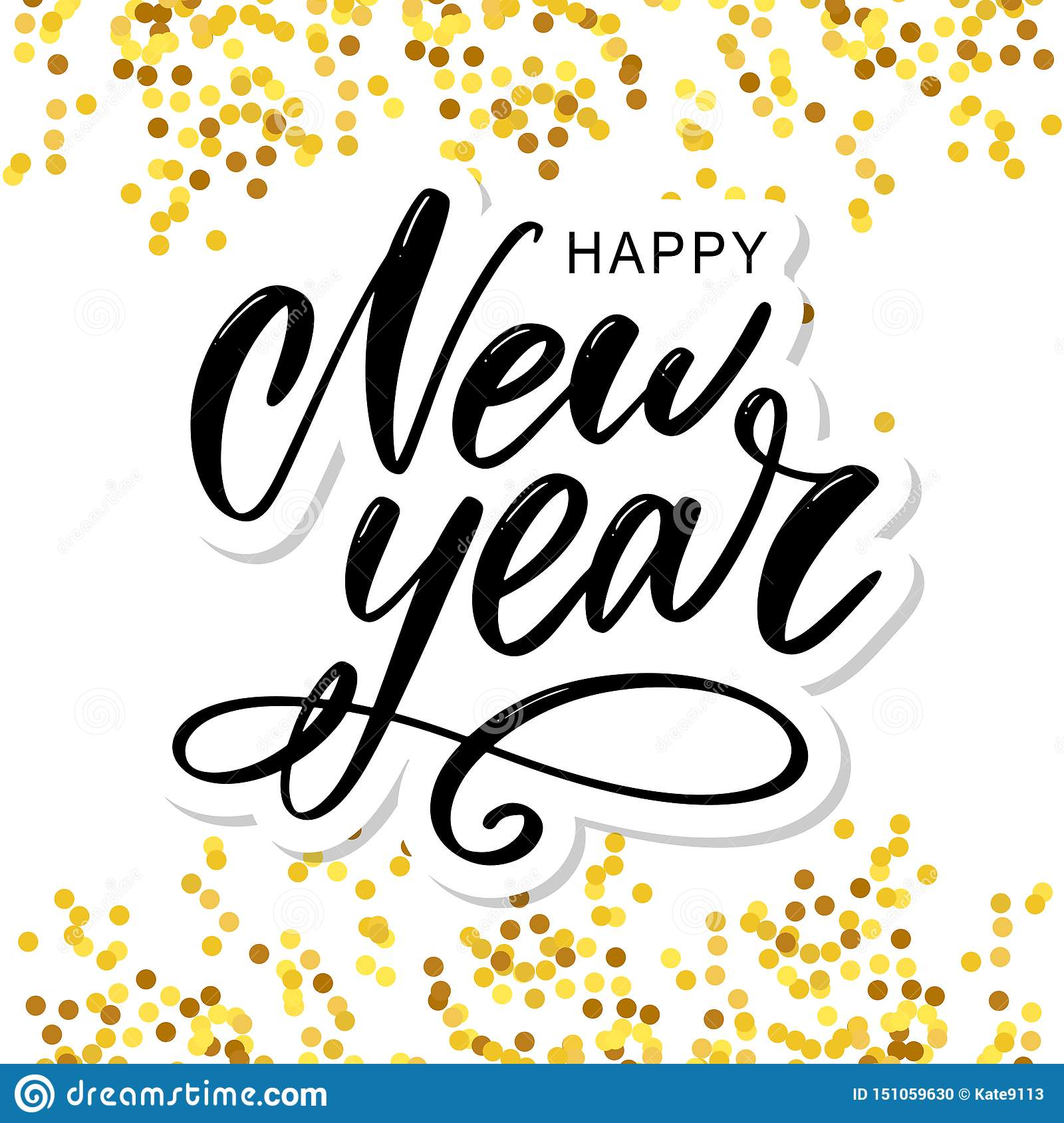 Southwest Merry Christmas And Happy New Year 2020 Pictures Free Happy 2020 New Year. Holiday Vector Illustration With Lettering
