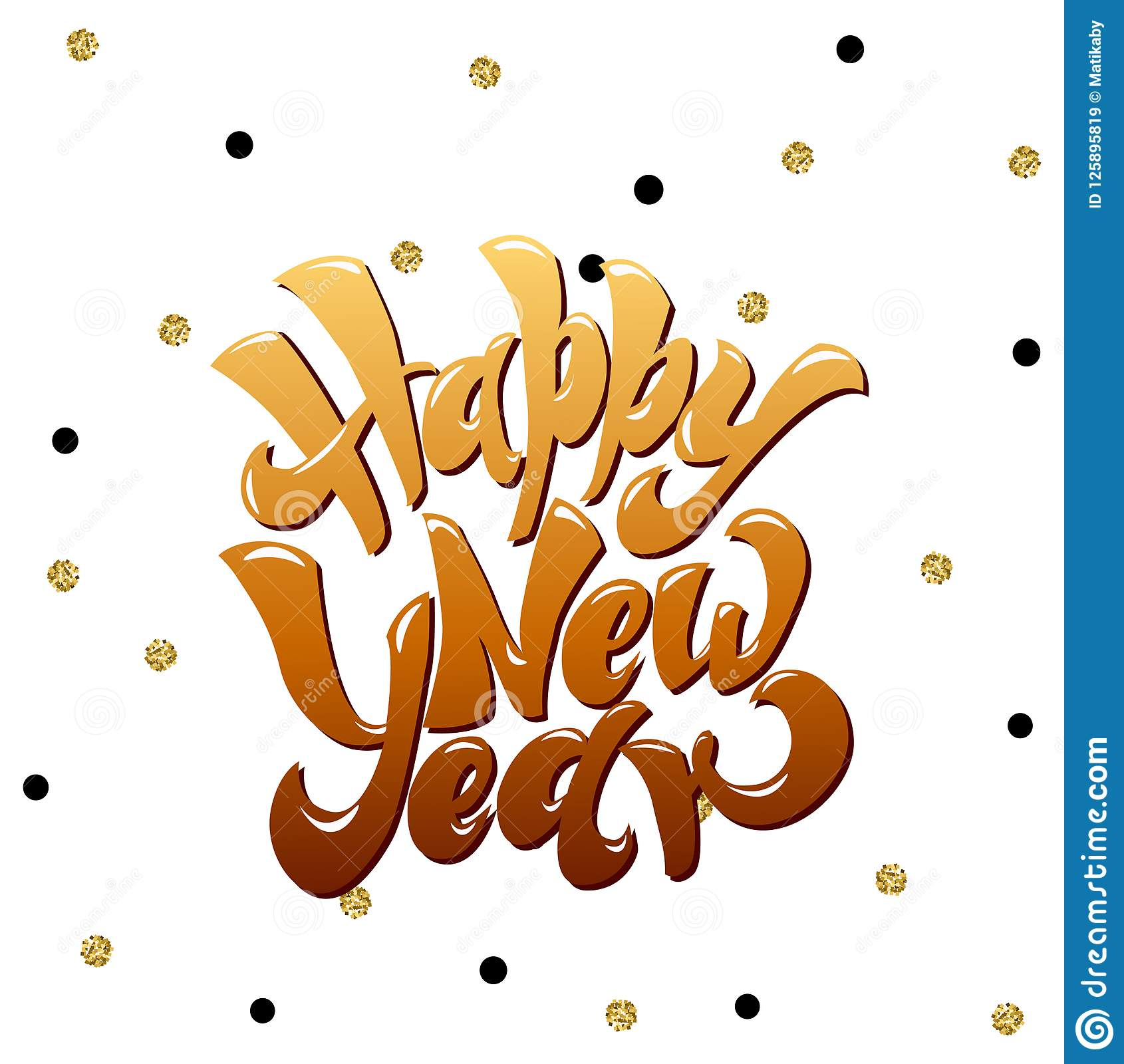 happy new 2019 year holiday vector illustration with lettering composition and burst vintage festive label