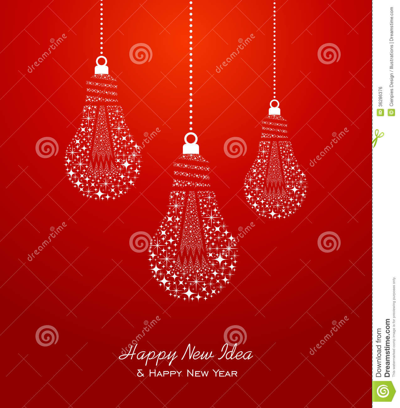 Happy New Year And Ideas 2014 Greeting Card Stock Vector ...