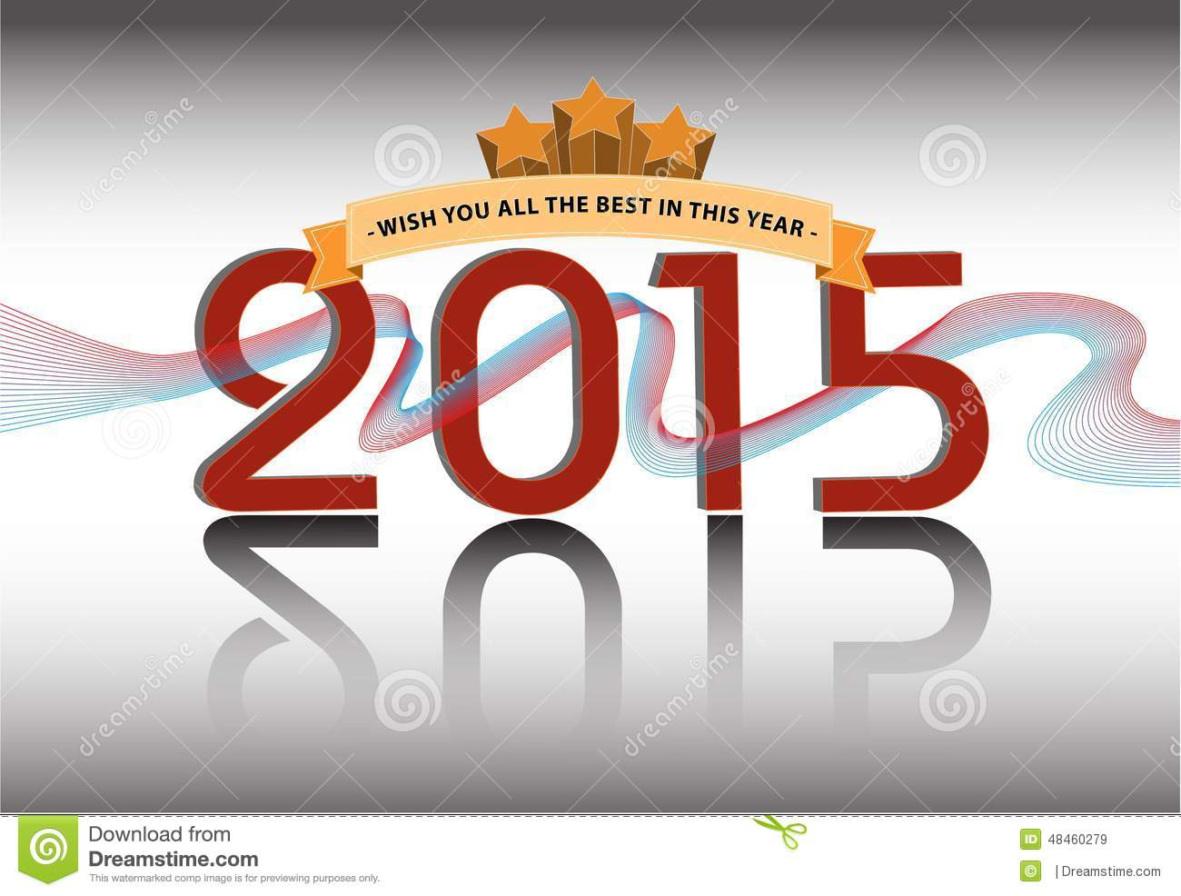 Happy new year illustration for presentation website for Website decoration