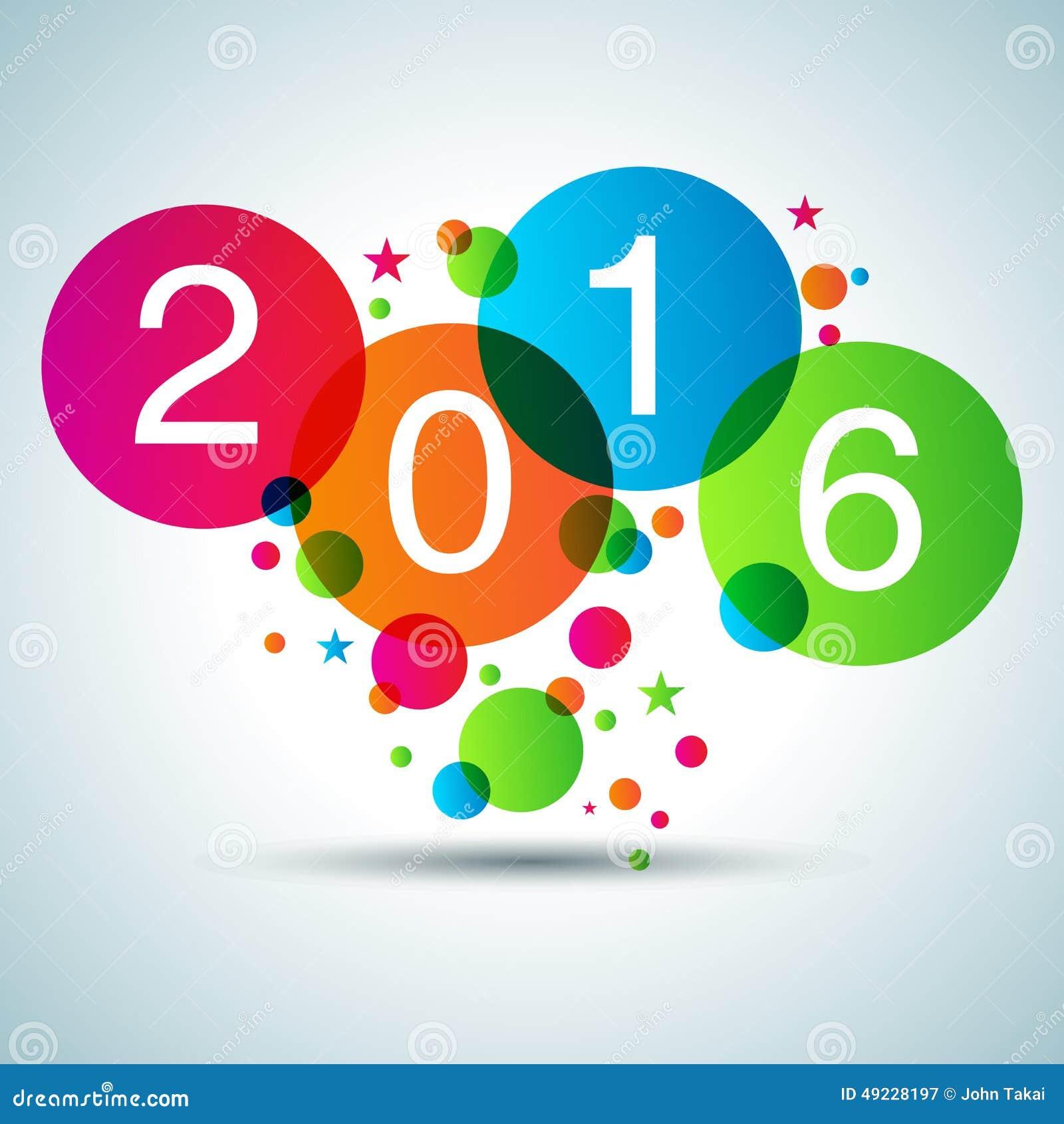 Happy New Year 2016 Stock Vector - Image: 49228197