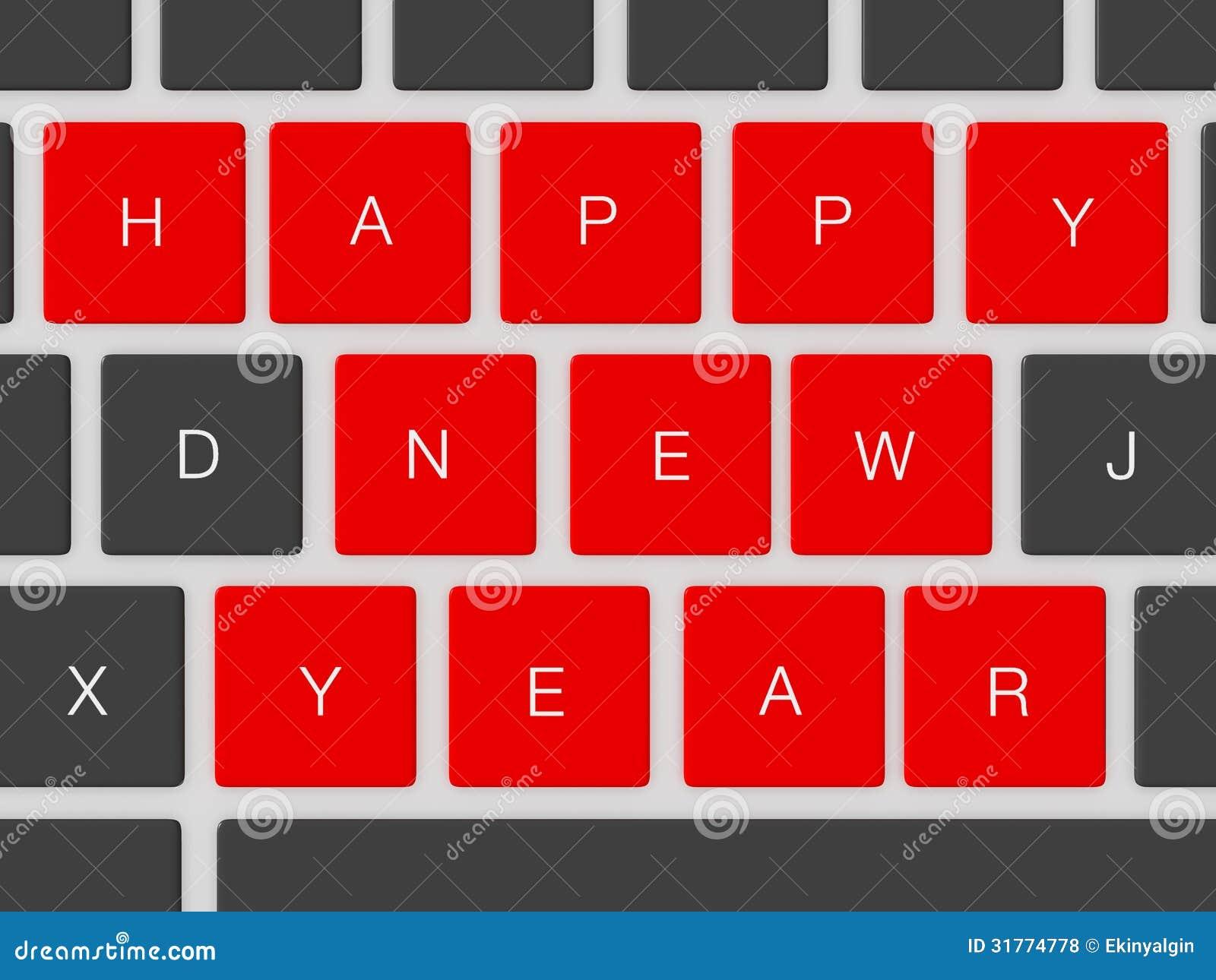 Happy New Year Keys Stock Illustration Illustration Of 2013 31774778