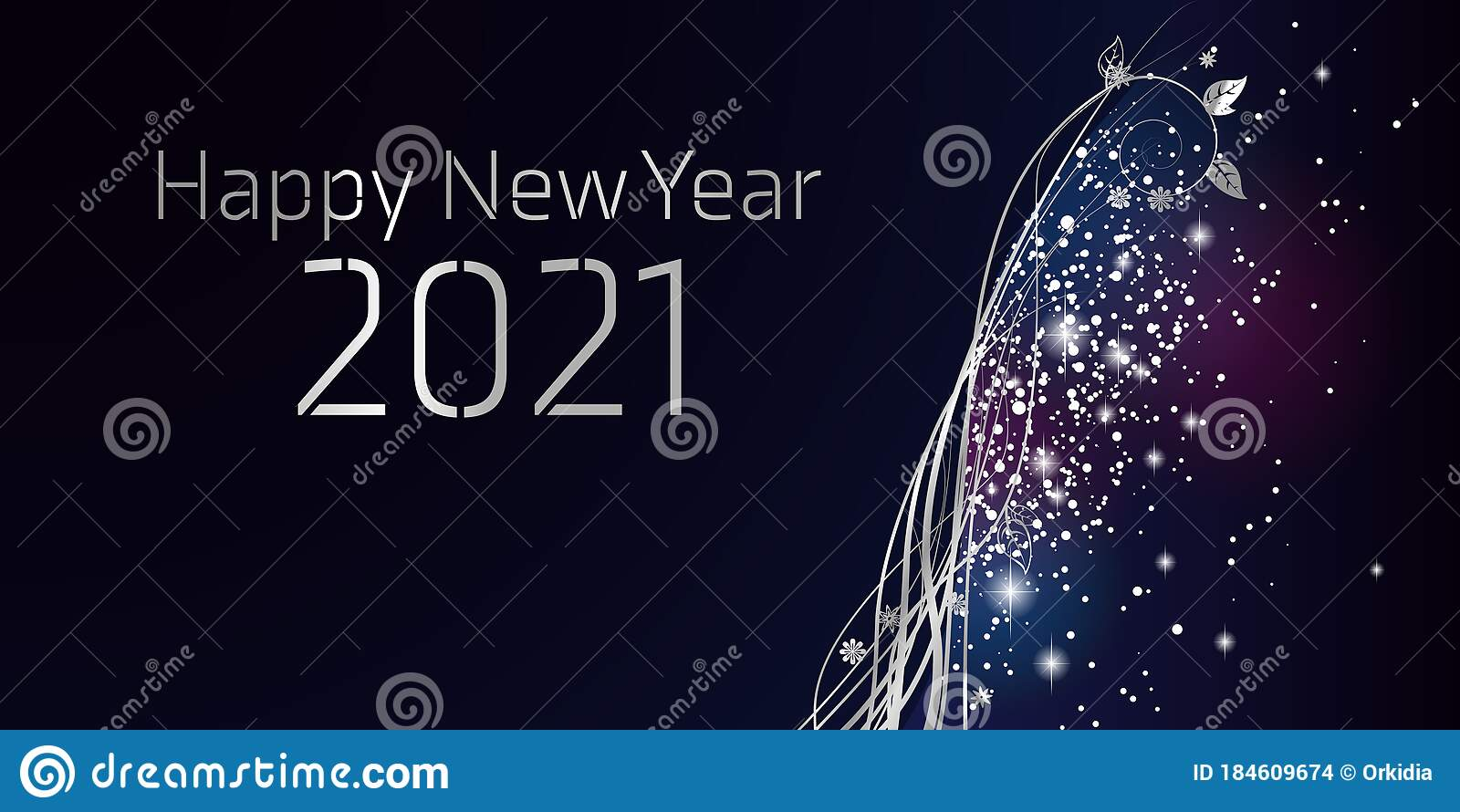 Happy New year 2021 stock vector. Illustration of ...