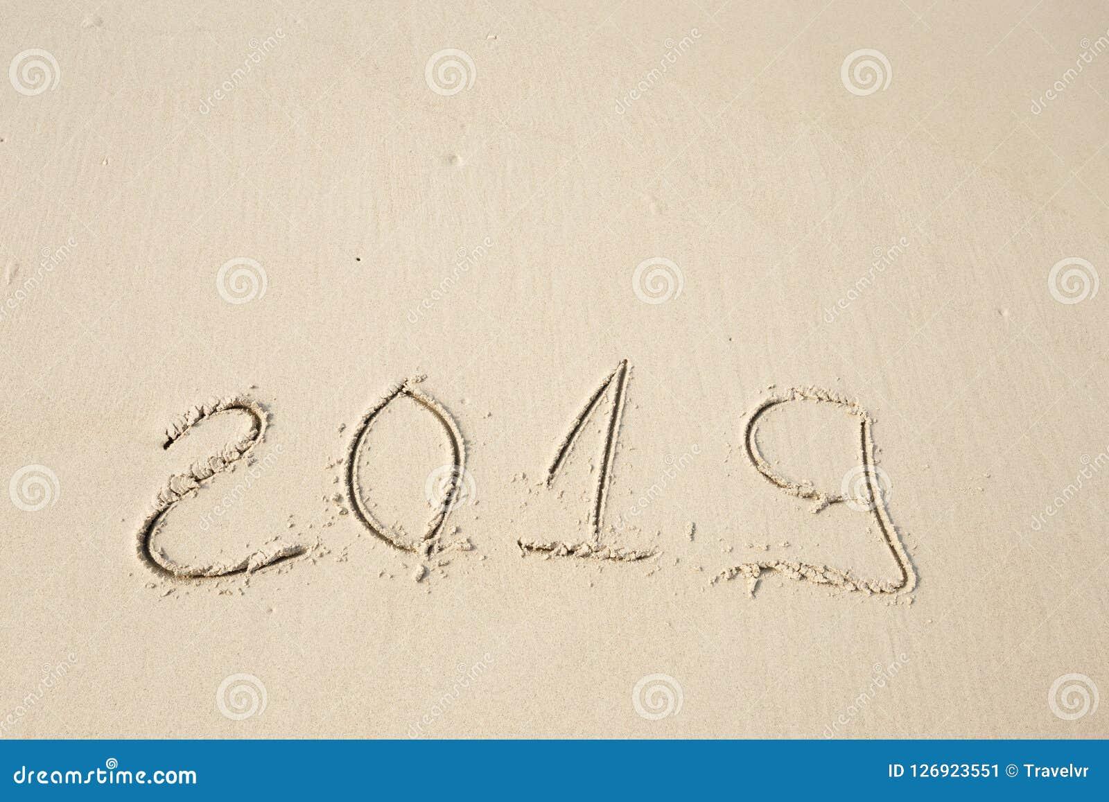 Happy New Year 2019 Stock Image Image Of Beach Bermuda 126923551