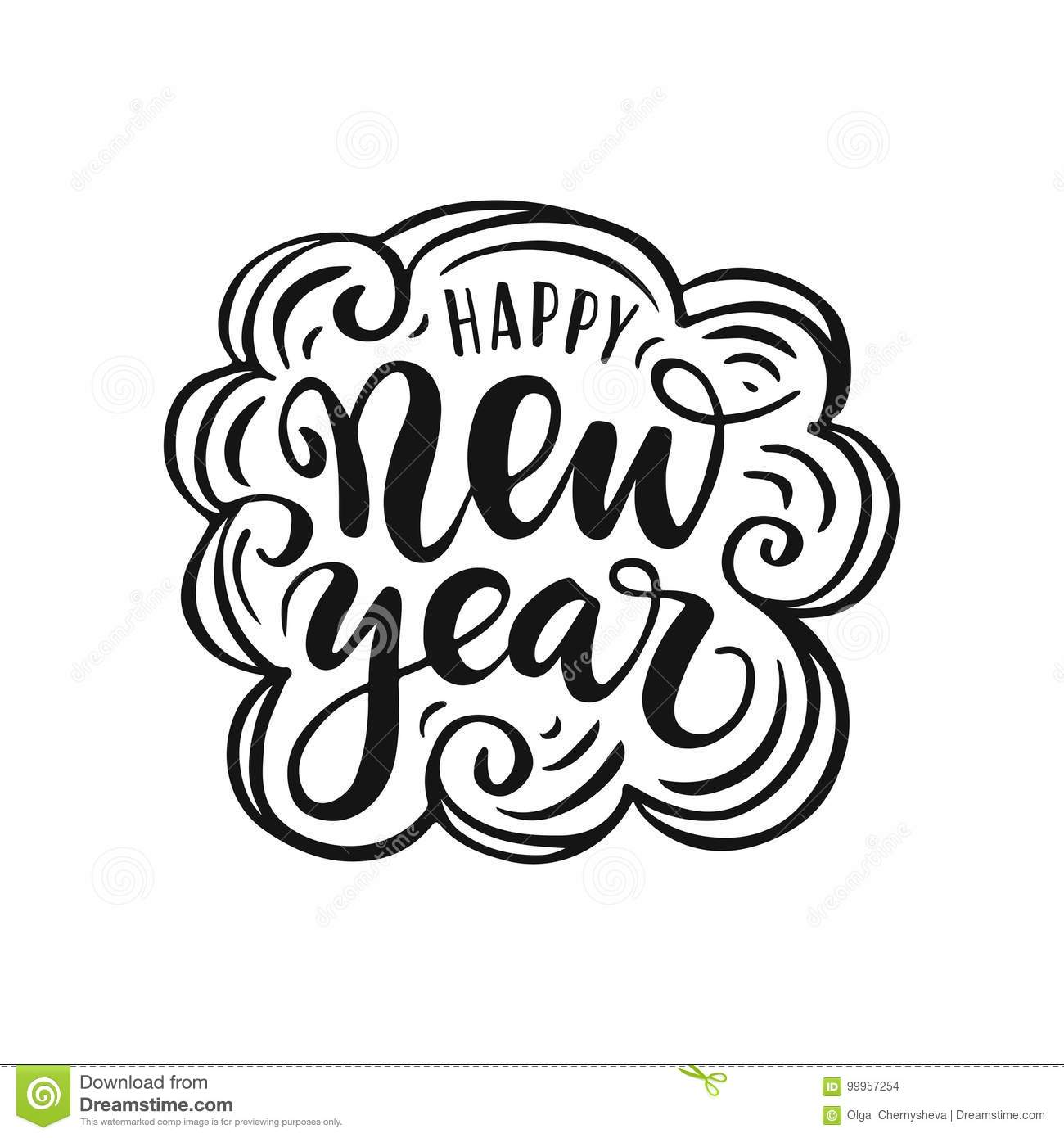 Happy New Year Lettering Design 81