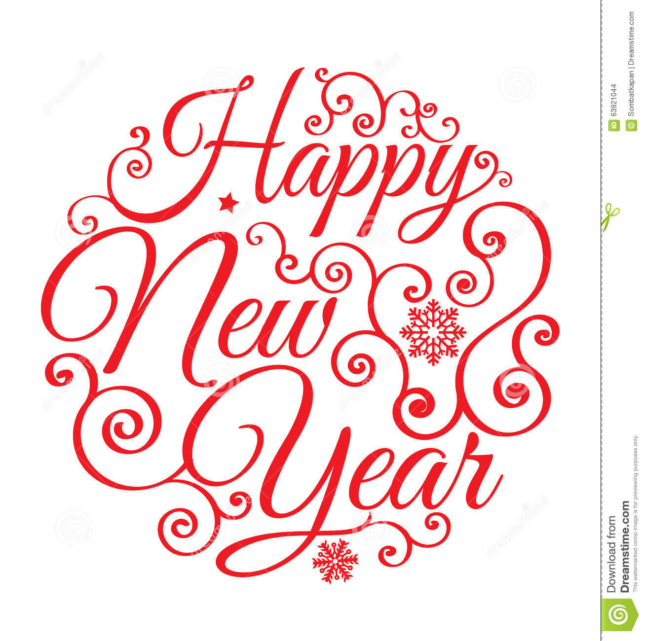 Happy New Year Lettering Design 17