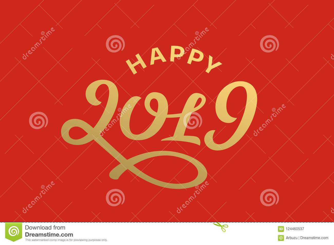 Happy new year 2019 lettering greeting card design stock vector download happy new year 2019 lettering greeting card design stock vector illustration of handwritten m4hsunfo