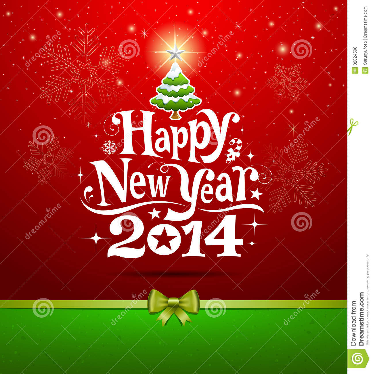 Happy New Year 2014 lettering