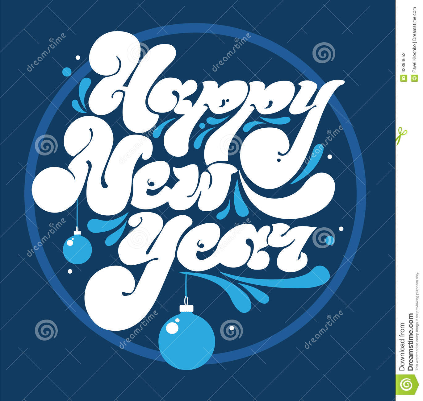 download happy new year lettering for greeting cards stock vector illustration of ornamental holiday - Artistic Holiday Cards