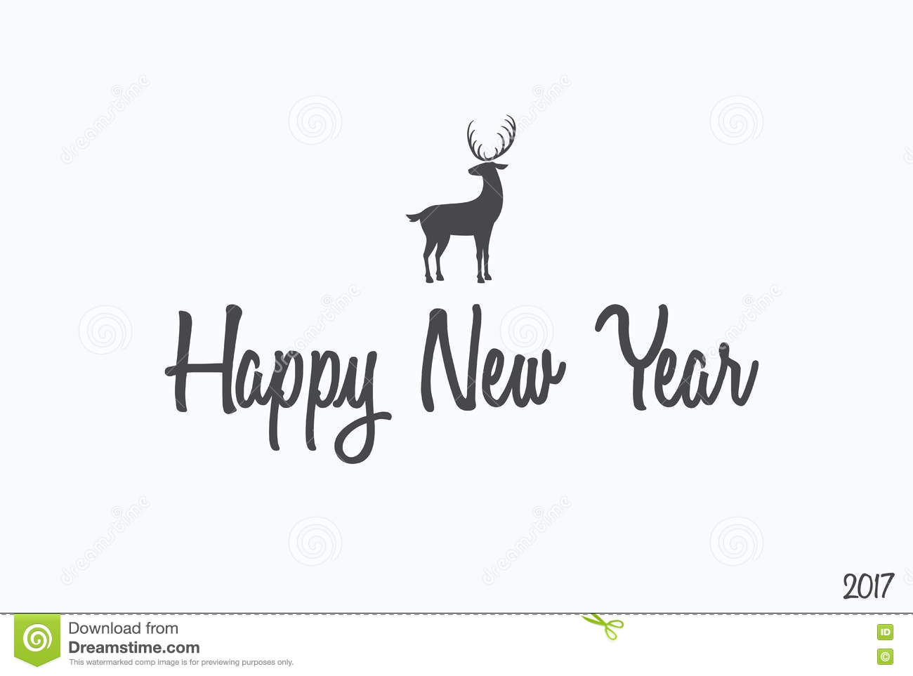 Happy New Year Lettering Typography. Handwriting Text ...