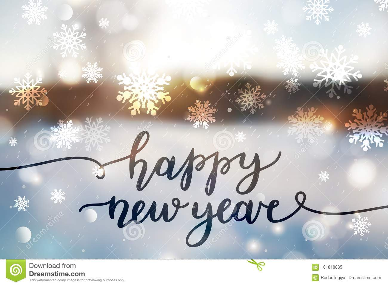 Happy new year lettering stock image. Image of christmas - 101818835