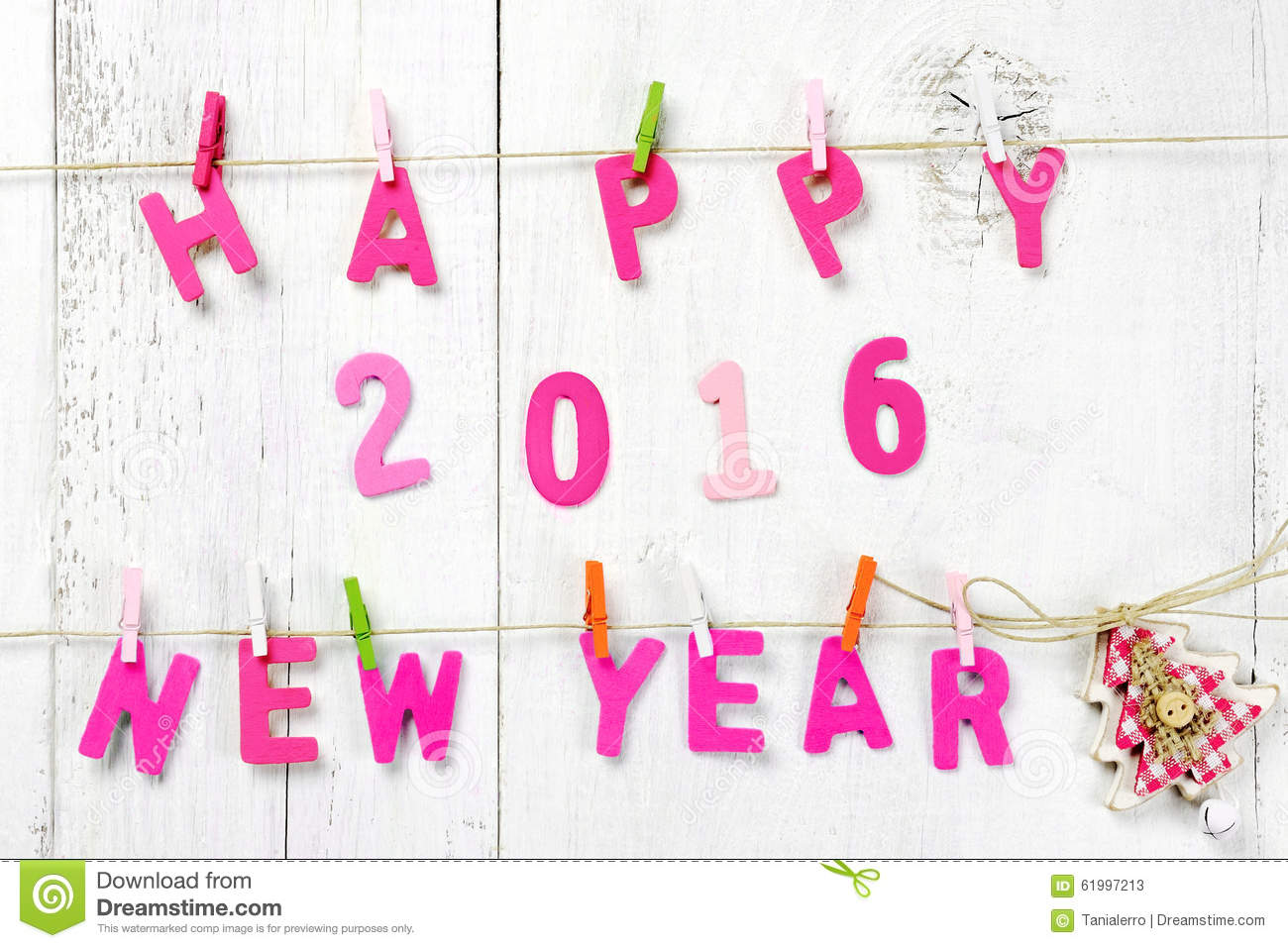 Happy New Year 2016 Letters On Wooden Texture Stock Photo   Image WtHSGZnM