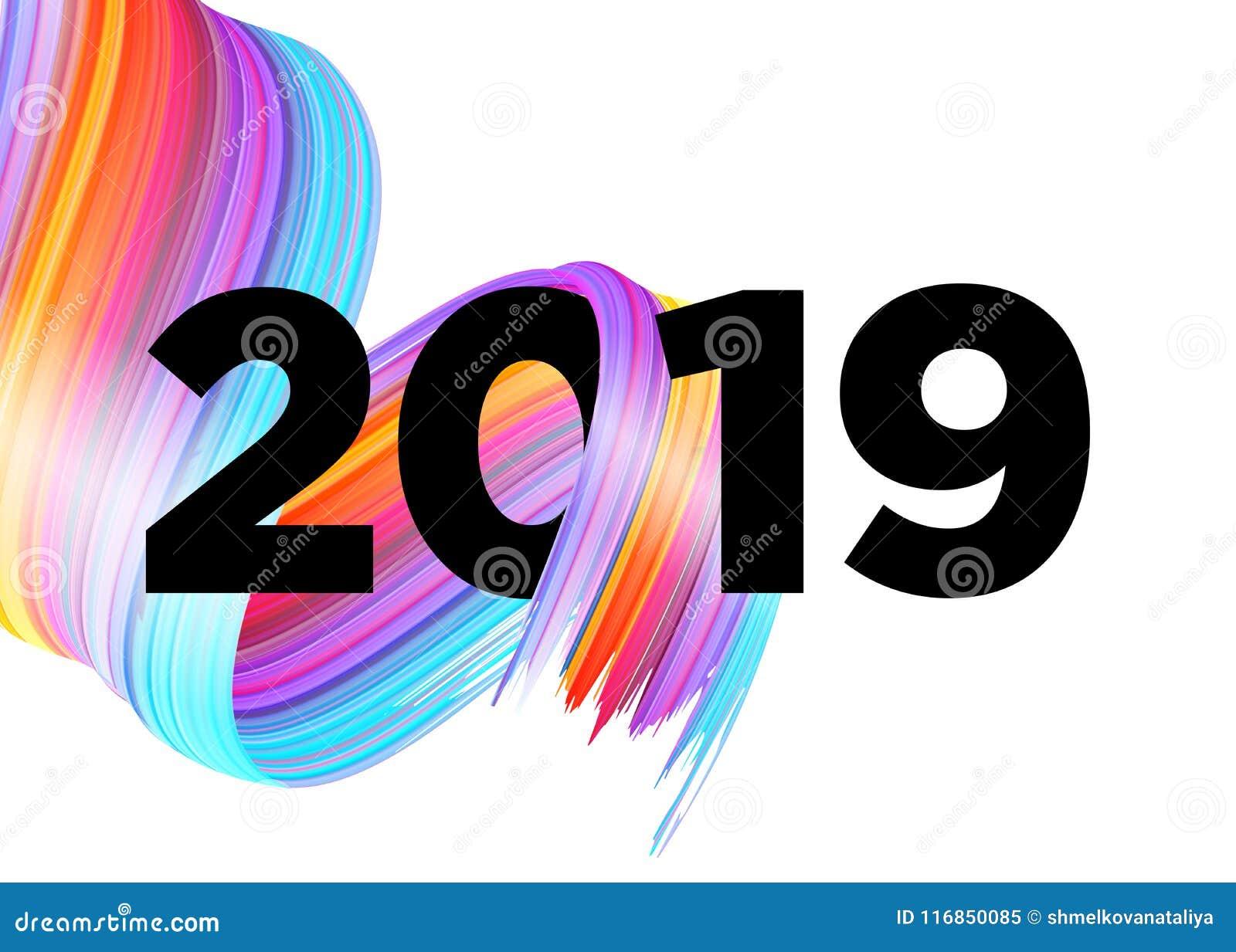 Happy New Year Logo 2019 6