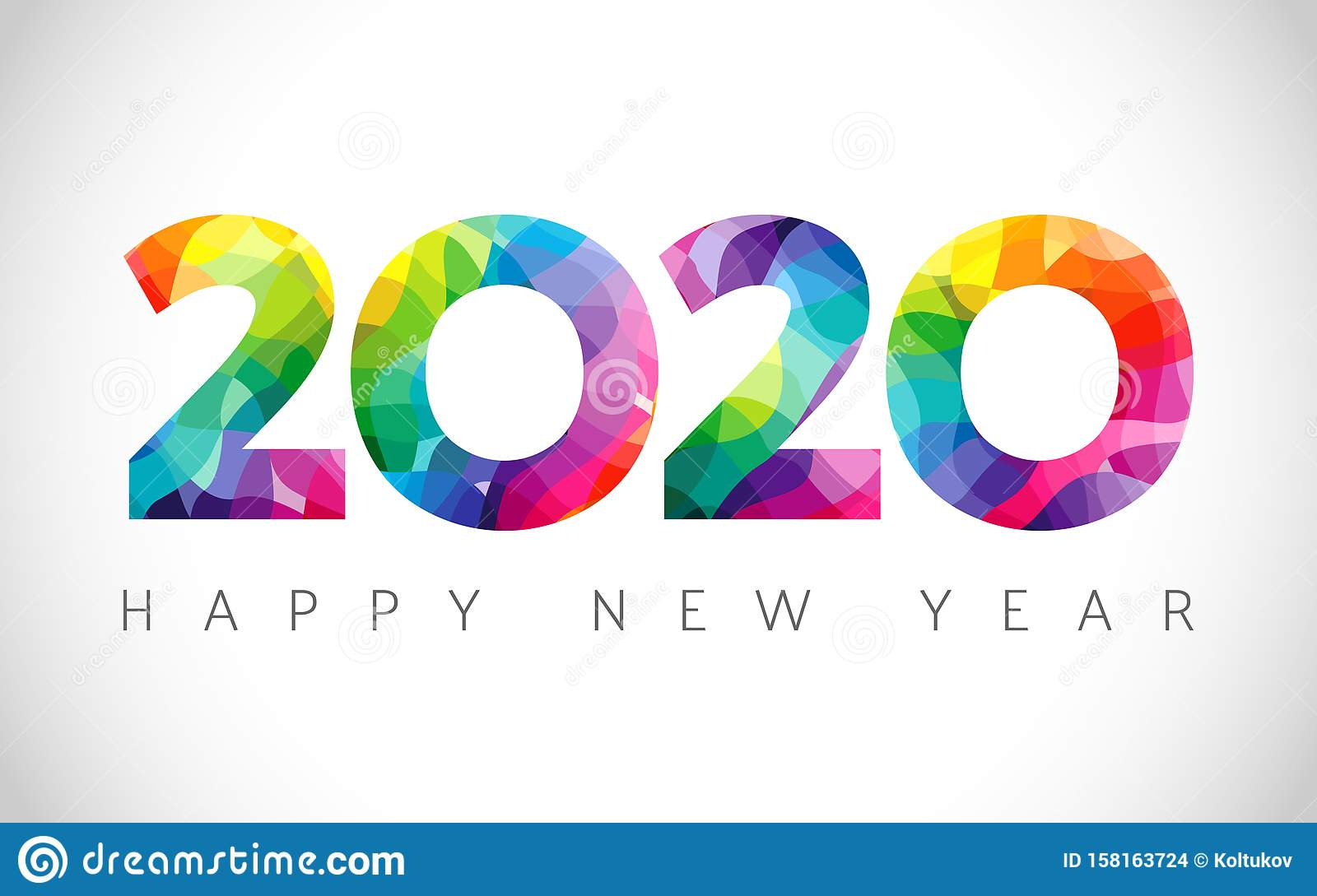 2020 A Happy New Year logo stock vector. Illustration of ...