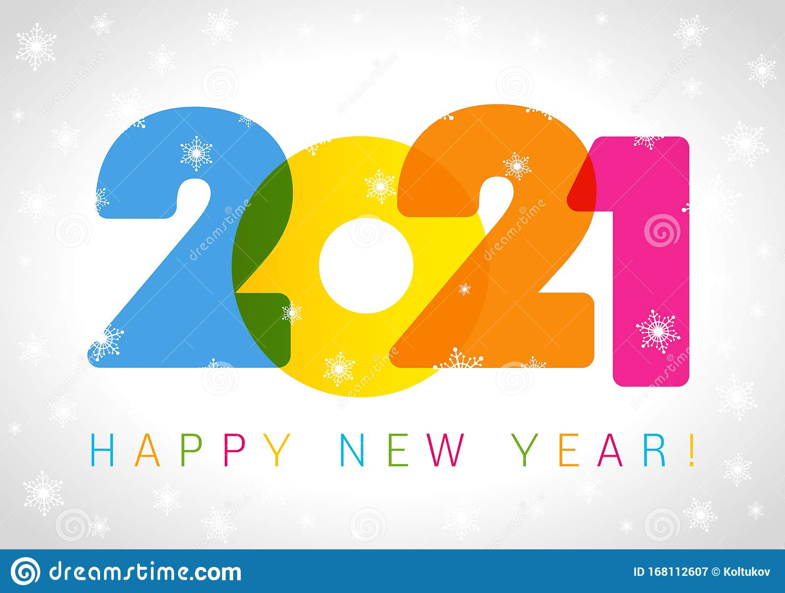 A Happy New Year 2021 logo stock vector. Illustration of ...