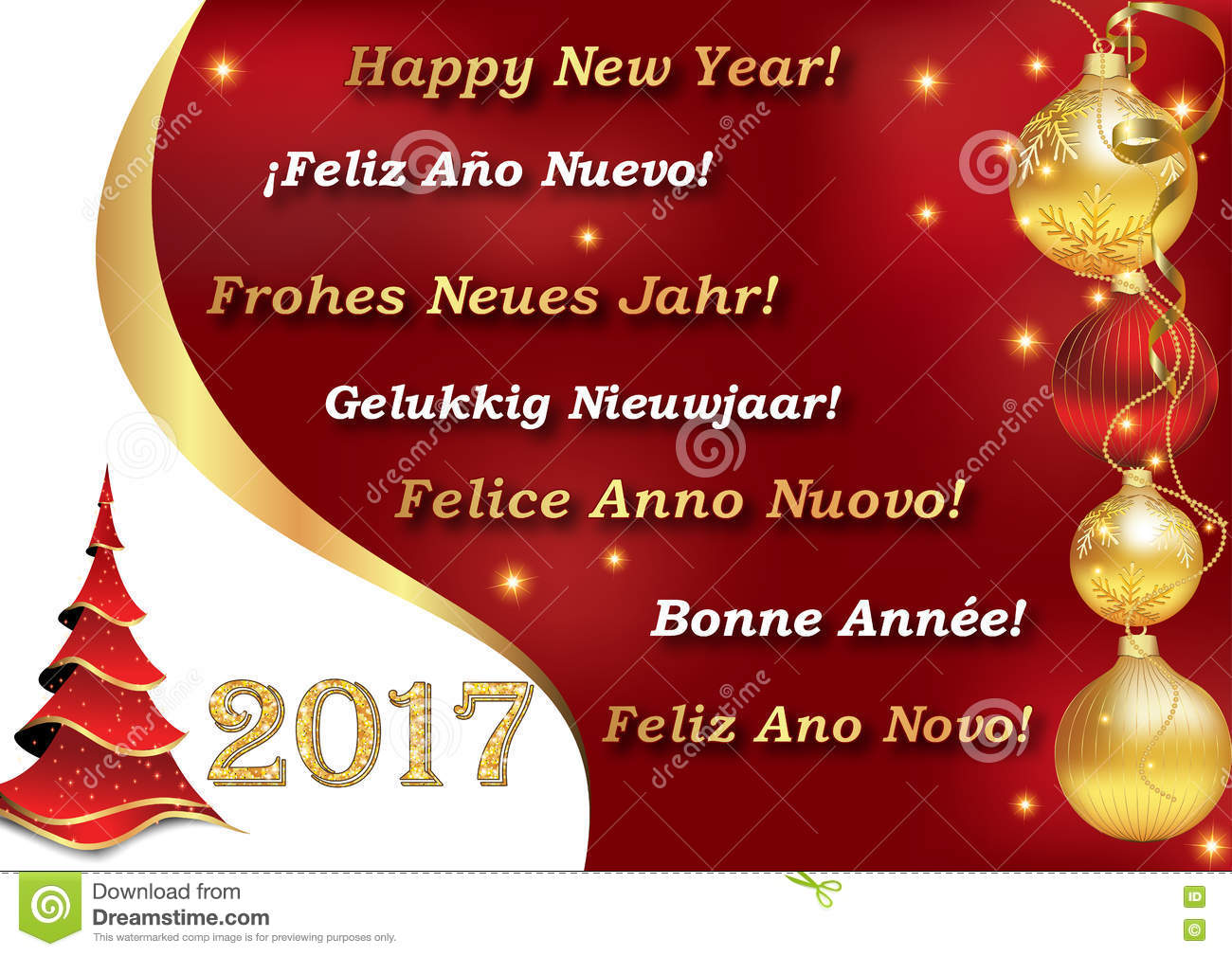 happy new year 2017 in many languages