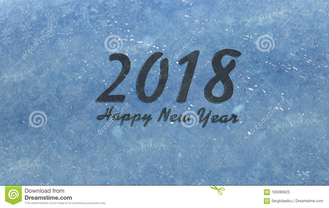 download happy new year 2018 stock illustration illustration of frozen 105096625