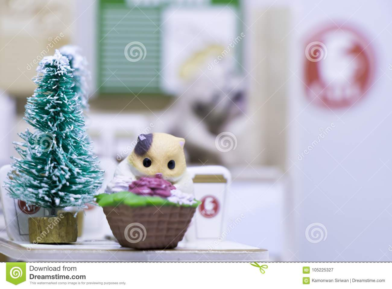Merry Christmas Animals.Happy New Year And Merry Christmas With Animals Stock Image Image