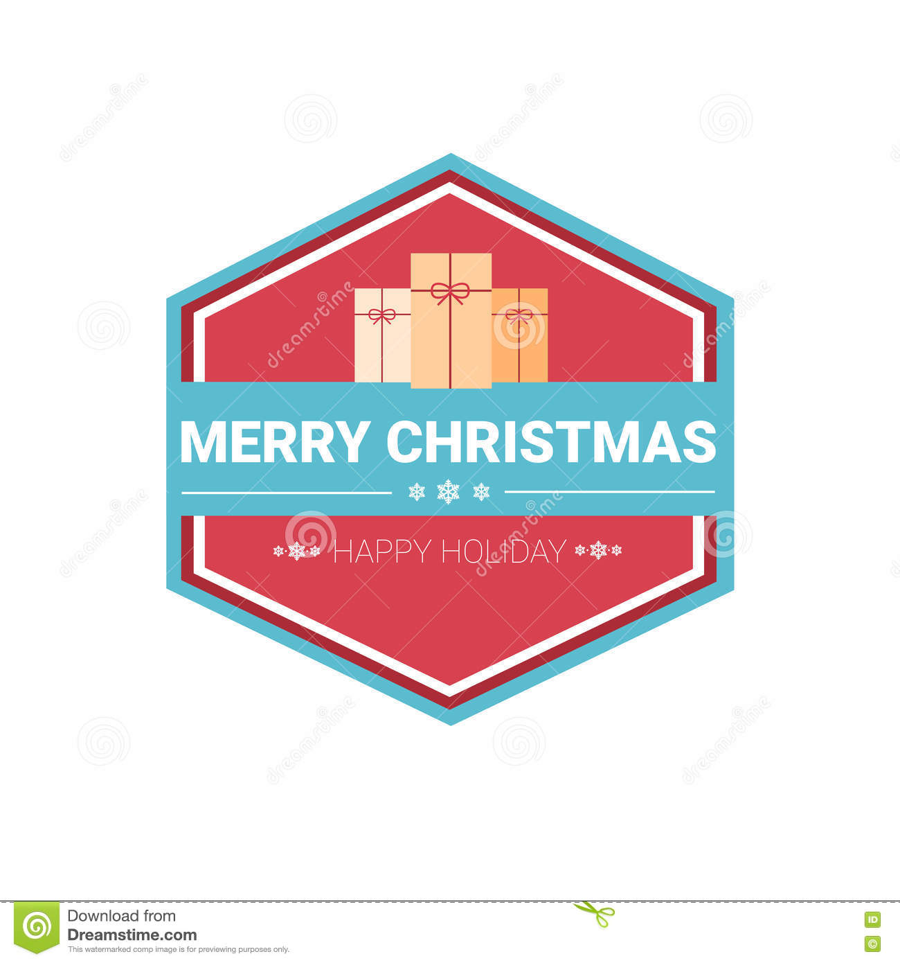 Happy New Year Merry Christmas Greeting Card Decoration ...