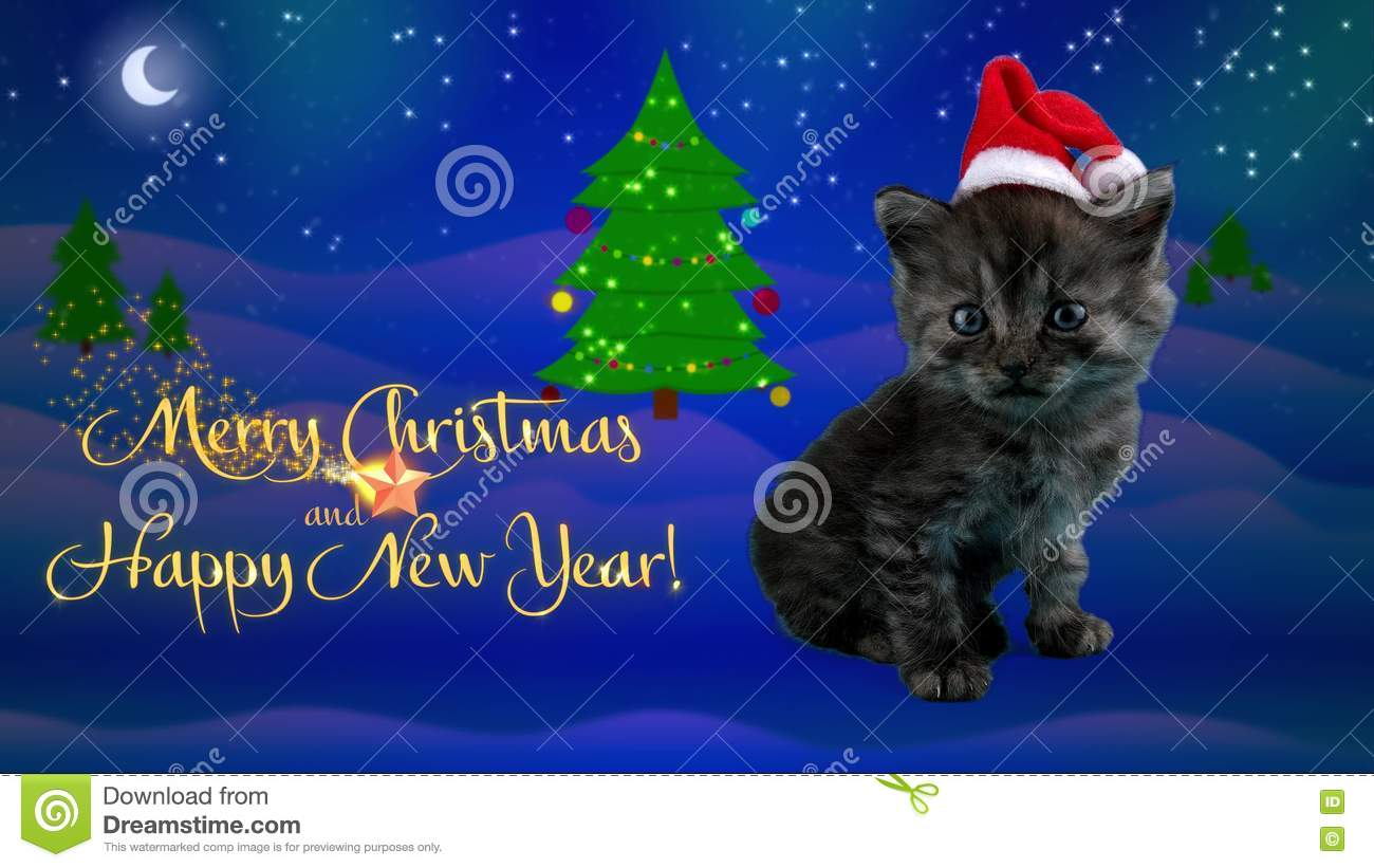 Merry christmas greeting stock video illustration of happy 44454877 happy new year and merry christmas greeting card with text stock video footage kristyandbryce Choice Image
