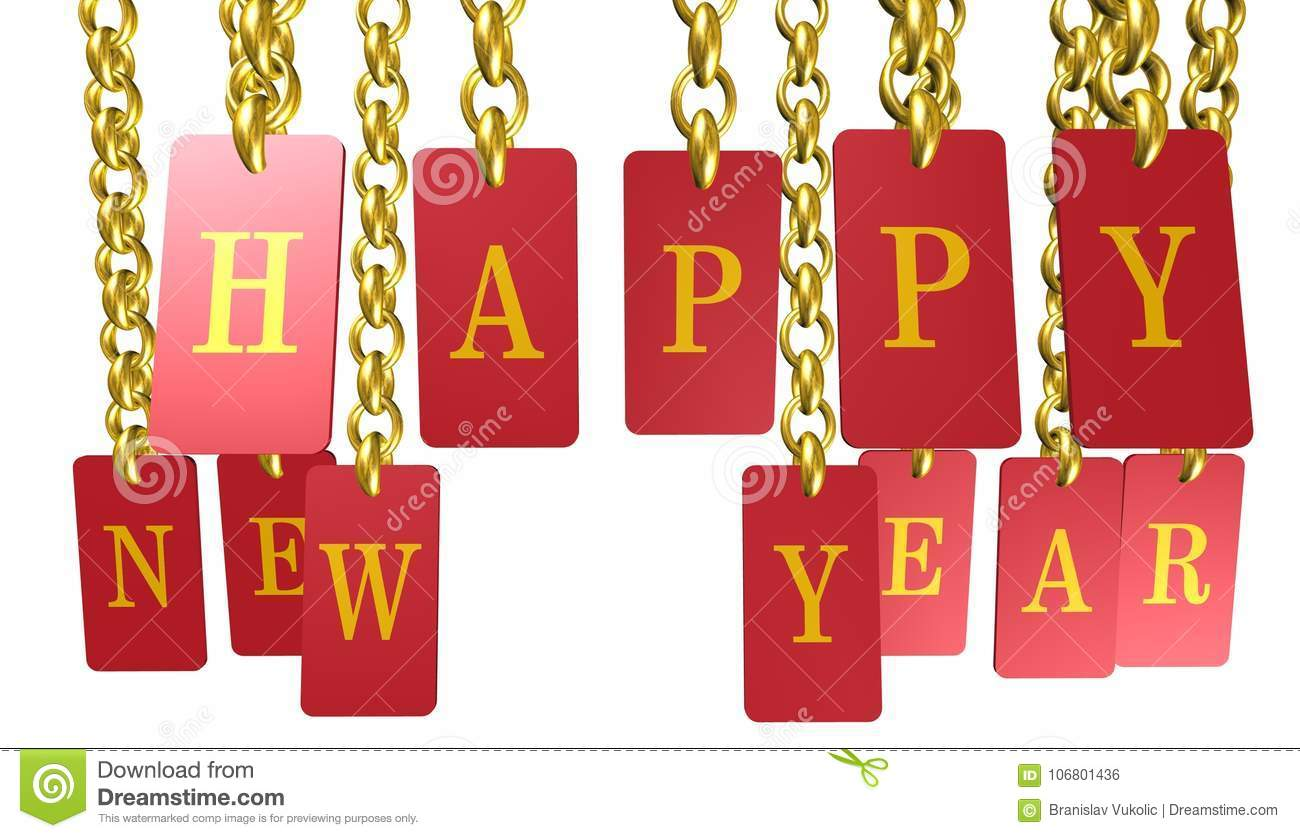 Happy New Year,Merry Christmas Icon,sign,3D Illustration Stock Illustration - Illustration of ...
