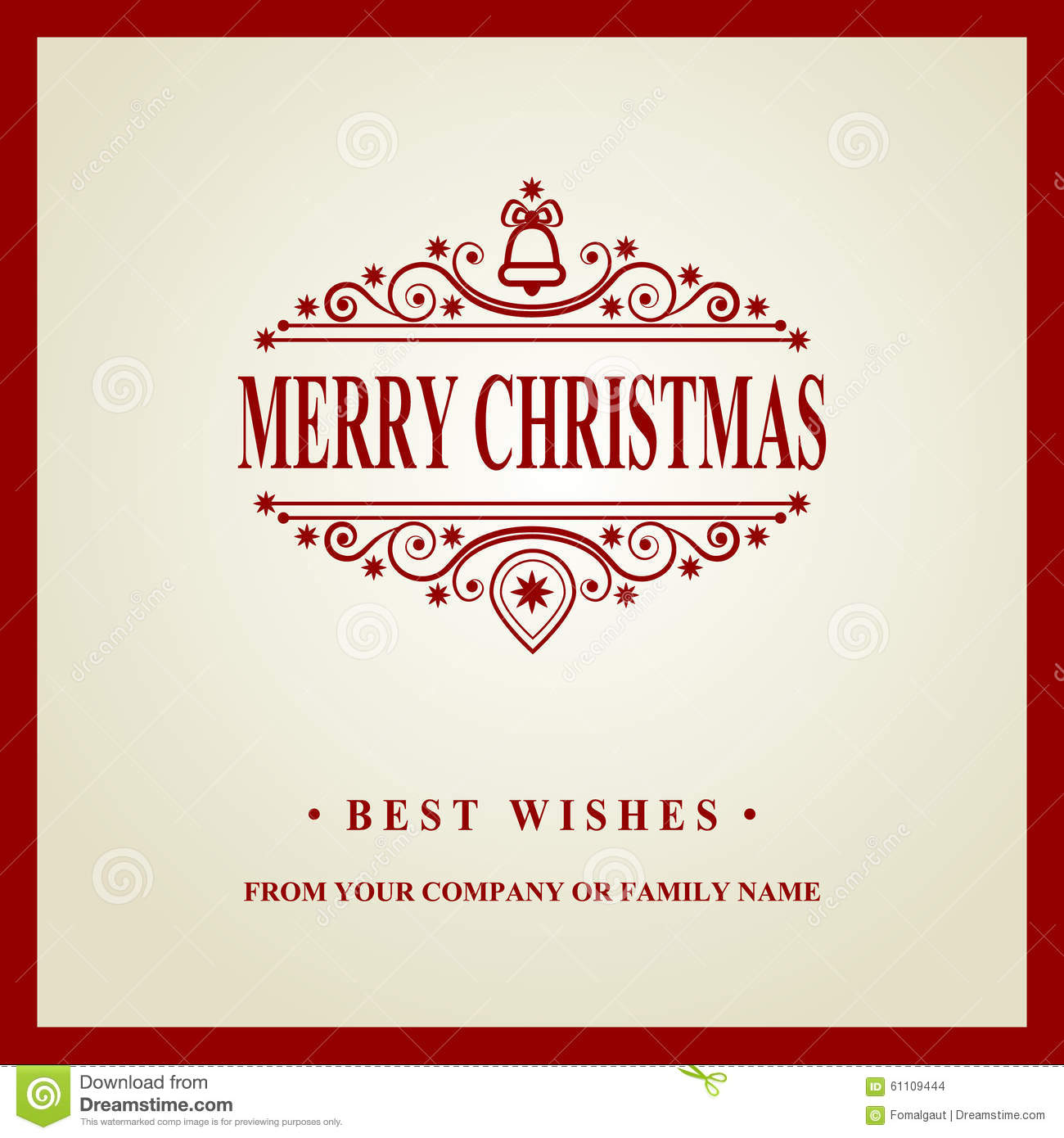 Happy New Year Message Merry Christmas Holidays Wish Greeting Card