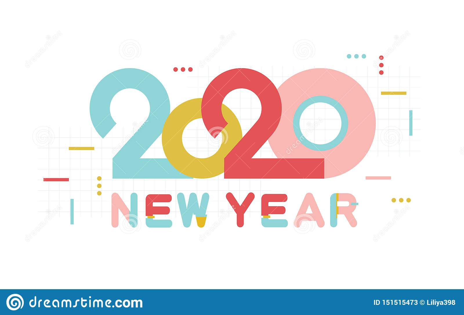 Happy New Year 2020 Number And Text. Modern Design For Greeting Poster And  Cards, Calendars, Banners, Site, Business Stock Vector - Illustration of  inscription, holiday: 151515473