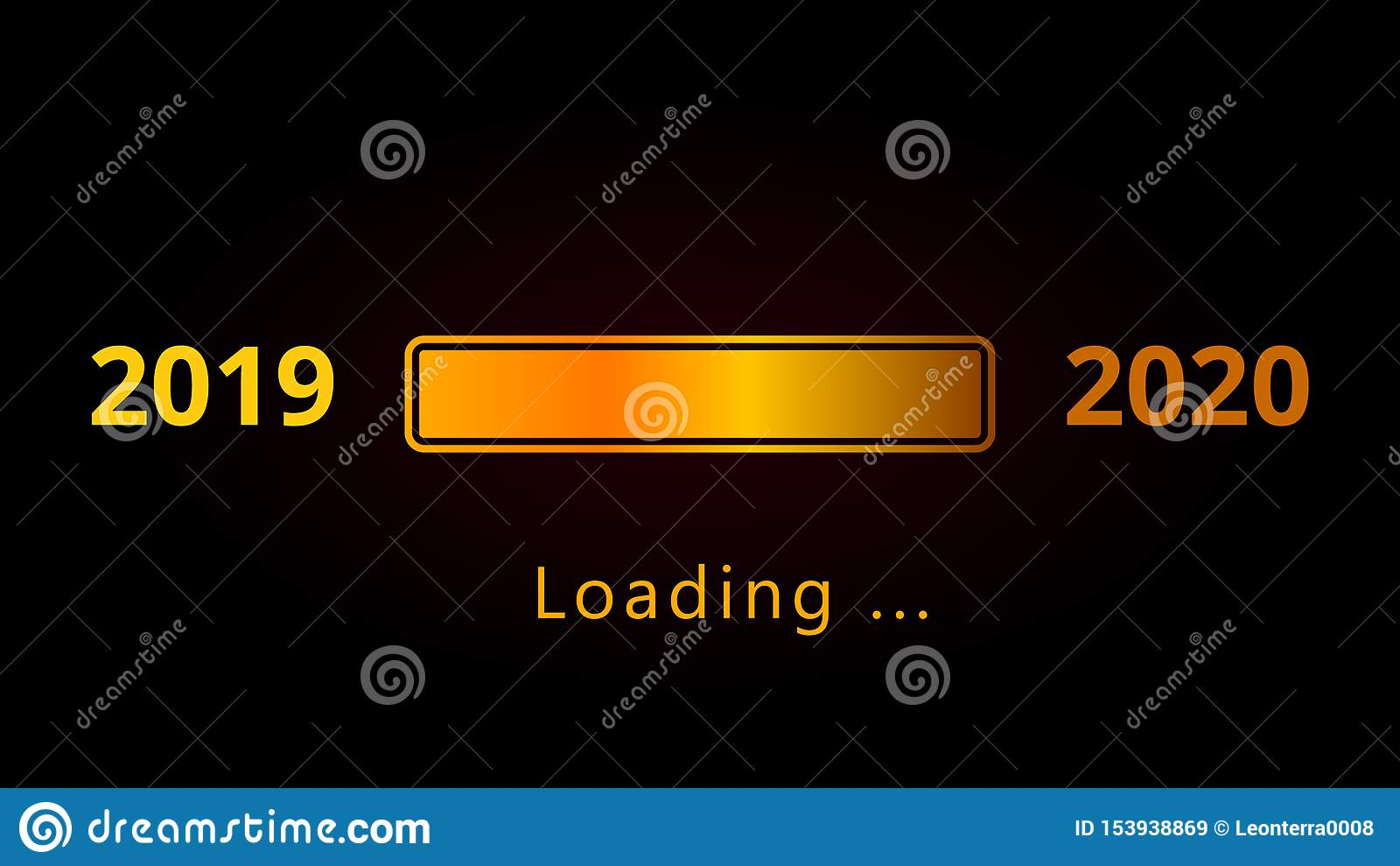 Happy New Year 2020 Numbers With Shiny Golden Loading Bar And Text Isolated On Black Background Stock Illustration Illustration Of Card Festive 153938869