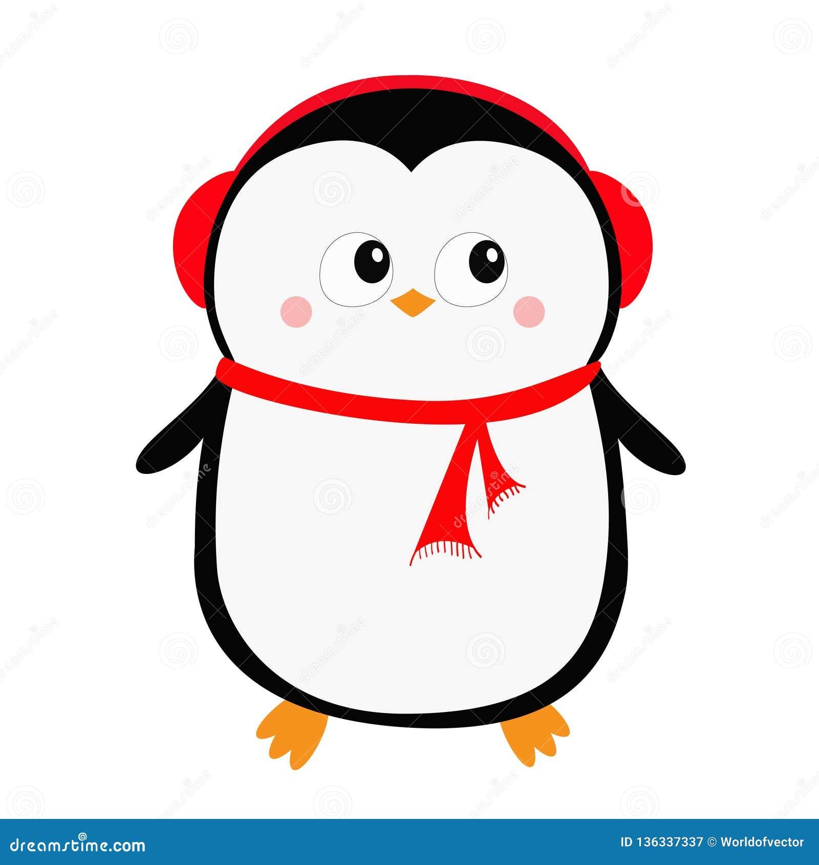 e8dbaff9f9b7d Merry Christmas. Cute cartoon kawaii baby character. Arctic animal. Flat  design. Hello winter. Isolated. White background. Vector illustration