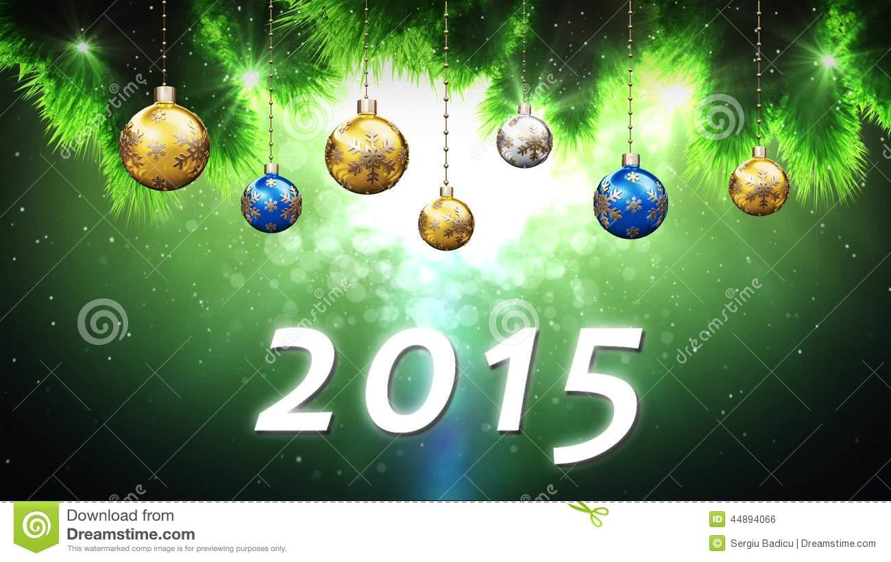 Happy New Year 2015 stock footage. Video of cone, world - 44894066
