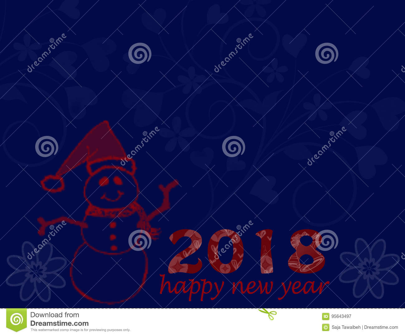 happy new year postal card