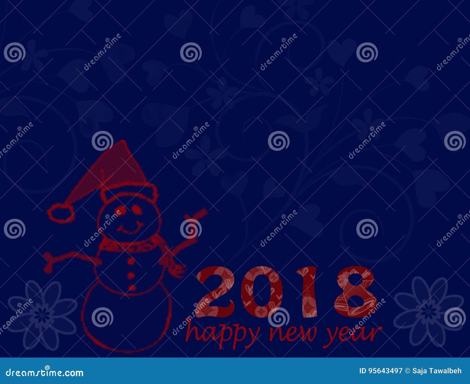 happy new year postal card
