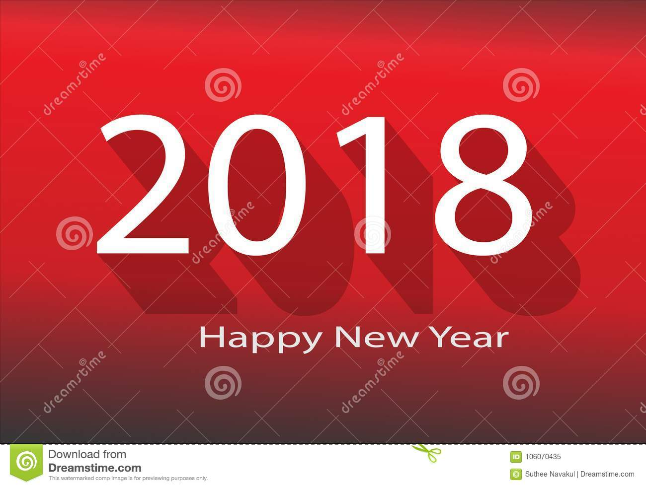 download 2018 happy new year 2018 on red background stock vector illustration of