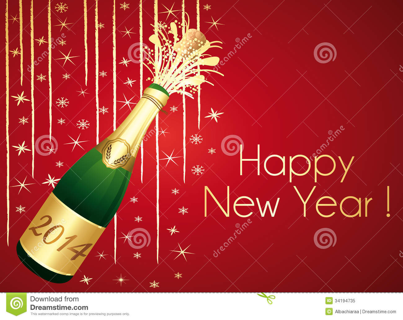 Happy new year 2014 red and gold greeting card stock vector happy new year 2014 red and gold greeting card m4hsunfo
