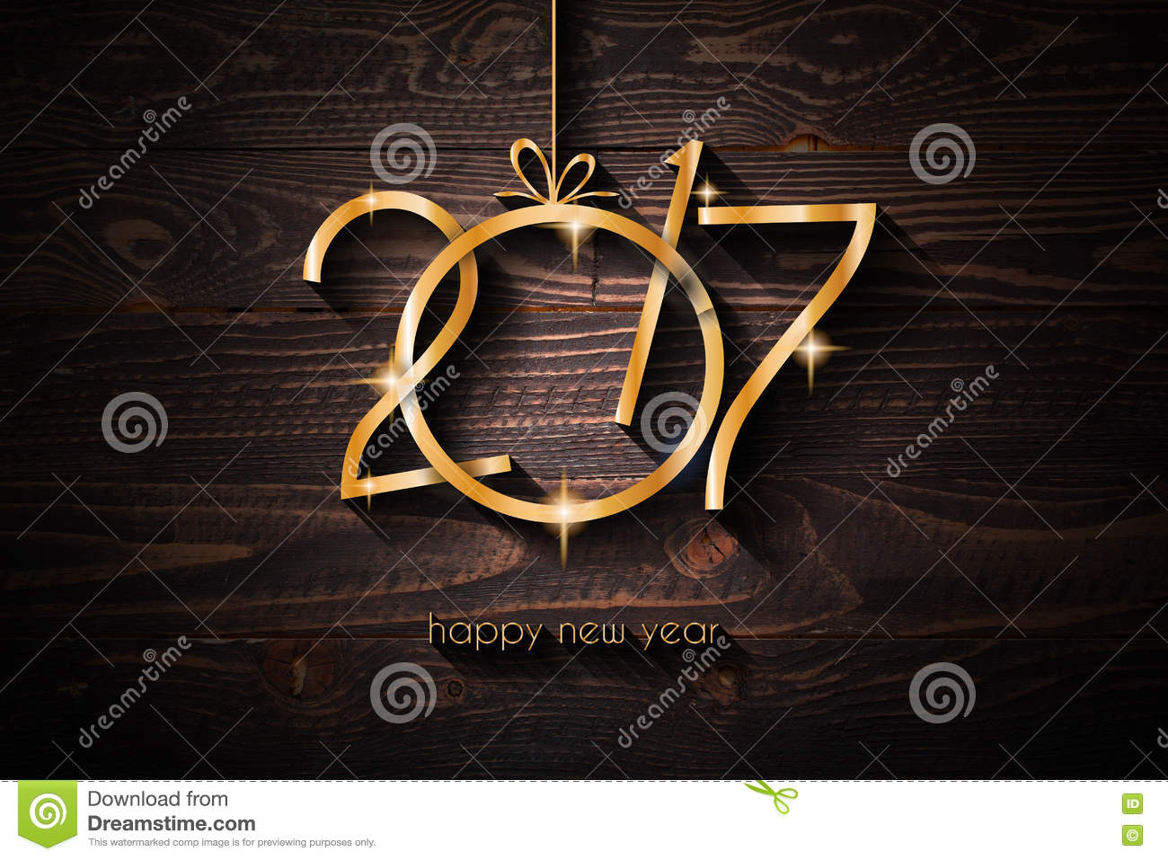 2017 happy new year restaurant menu template background