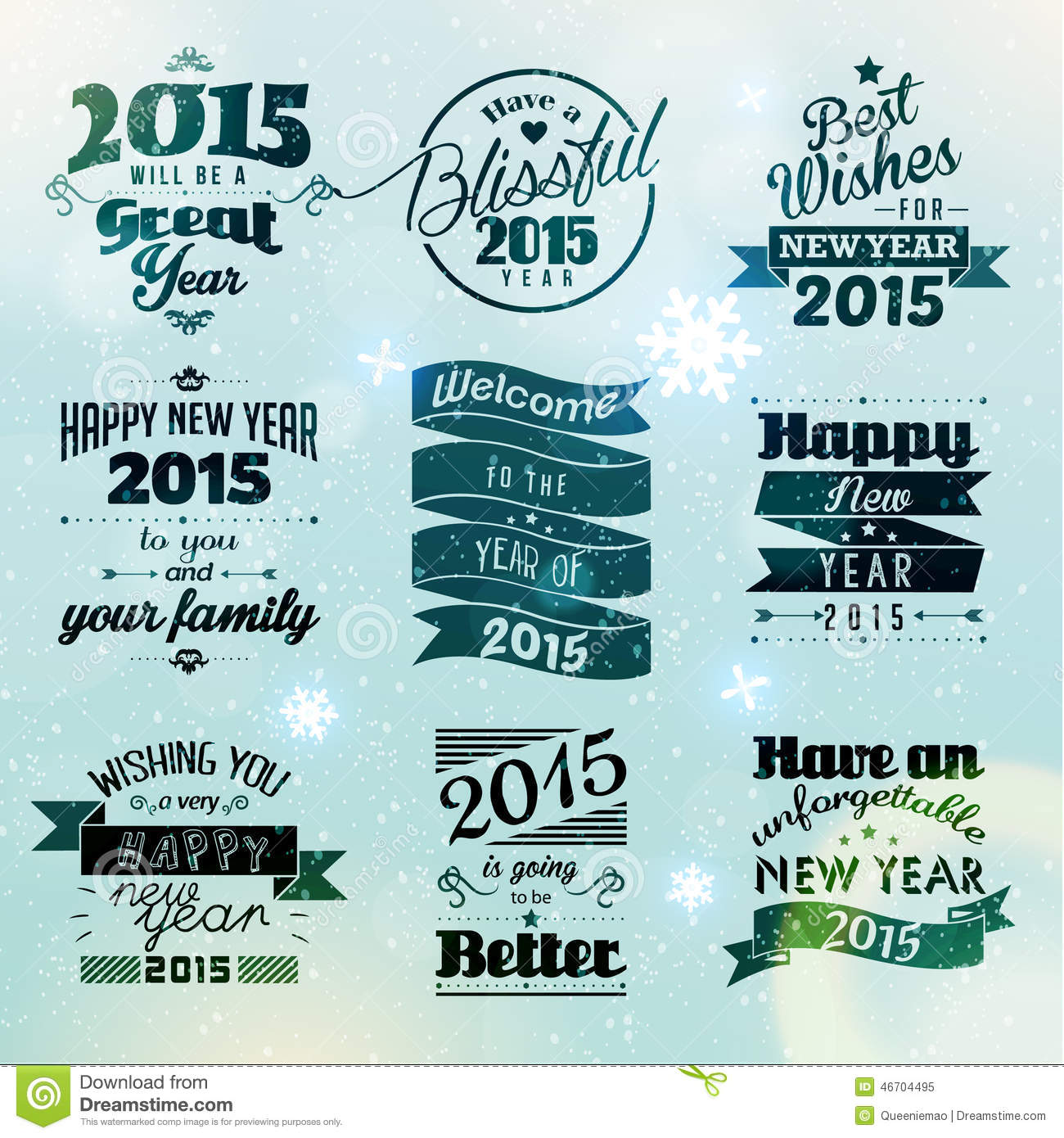Happy new year 2015 season greetings stock vector illustration of happy new year 2015 season greetings quote vector design m4hsunfo