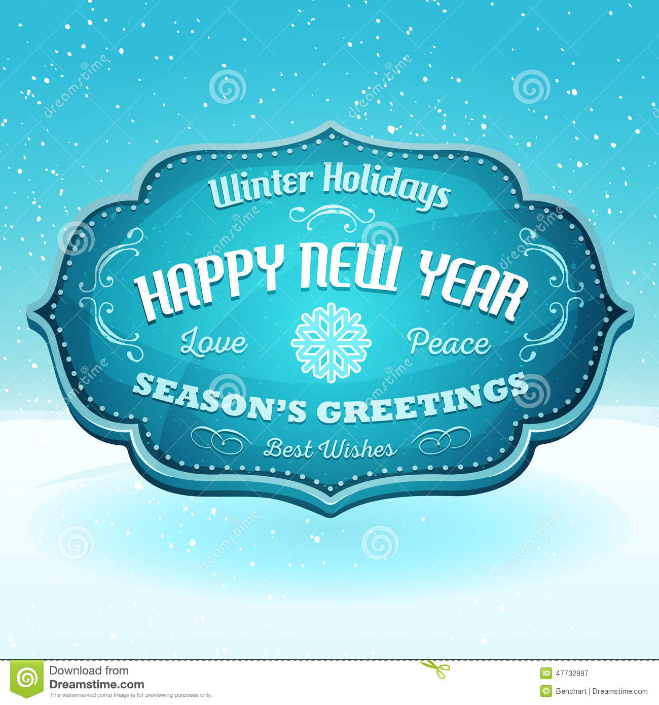 Happy new year and seasons greetings banner stock vector happy new year and seasons greetings banner kristyandbryce Choice Image
