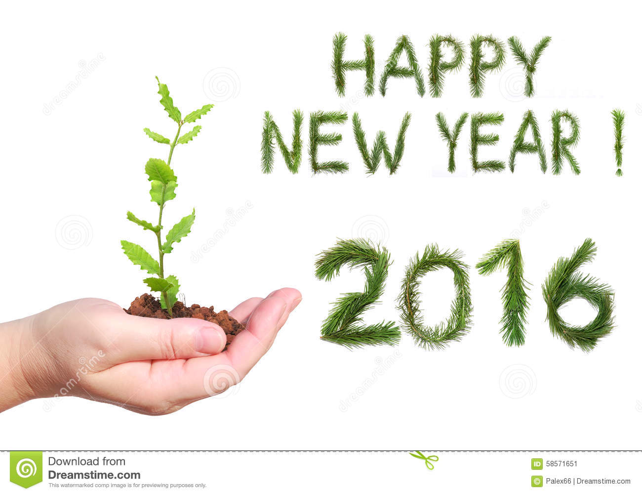 happy new 2016 year stock image image of green message 58571651