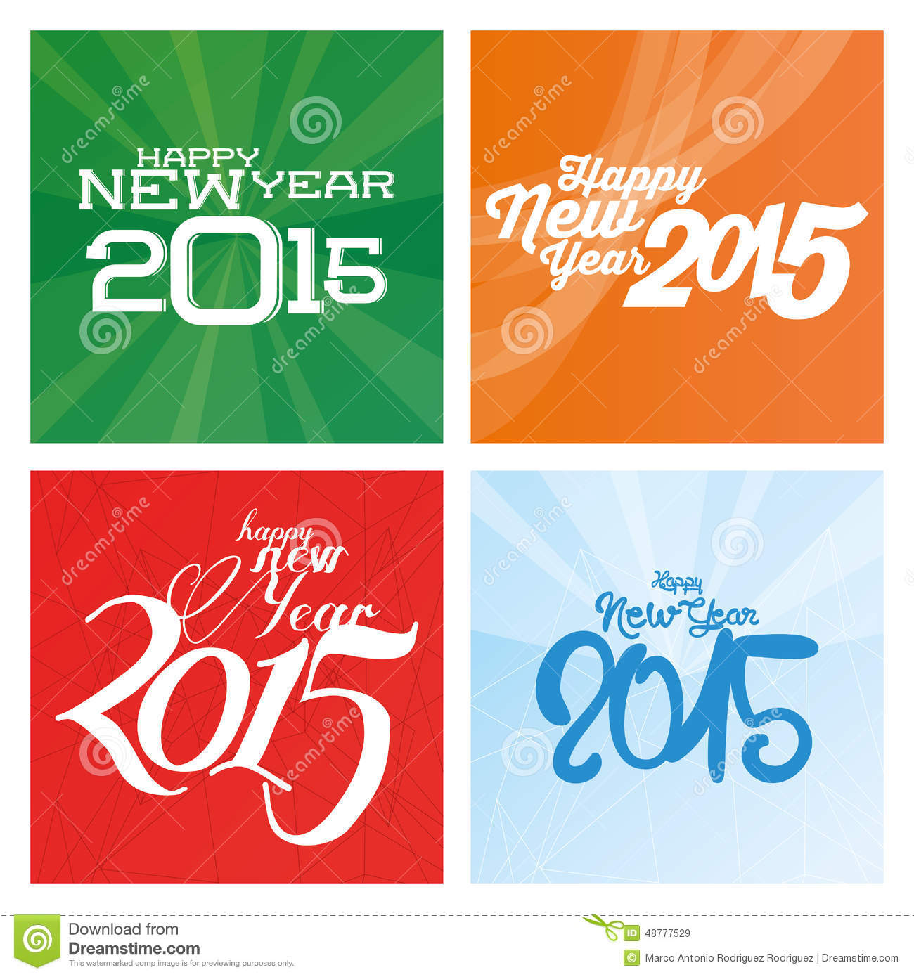 a set of different colored backgrounds with happy new year messages