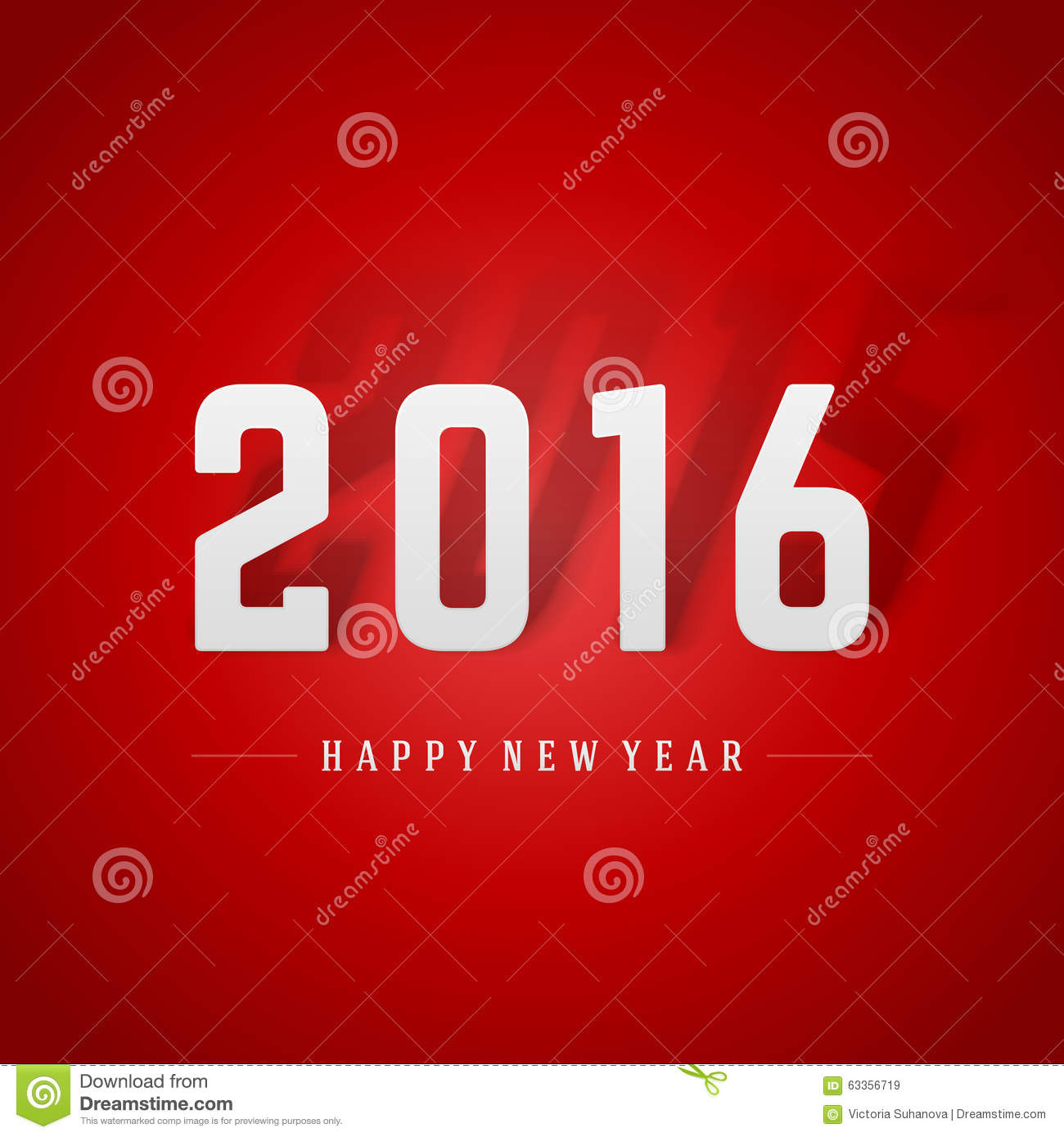 happy new year 2016 and 2015 shadow 3d message