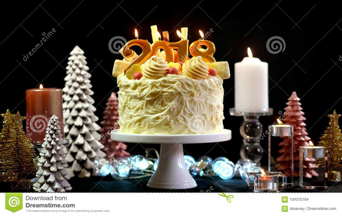 download 2018 happy new year showstopper cake stock photo image of background copy