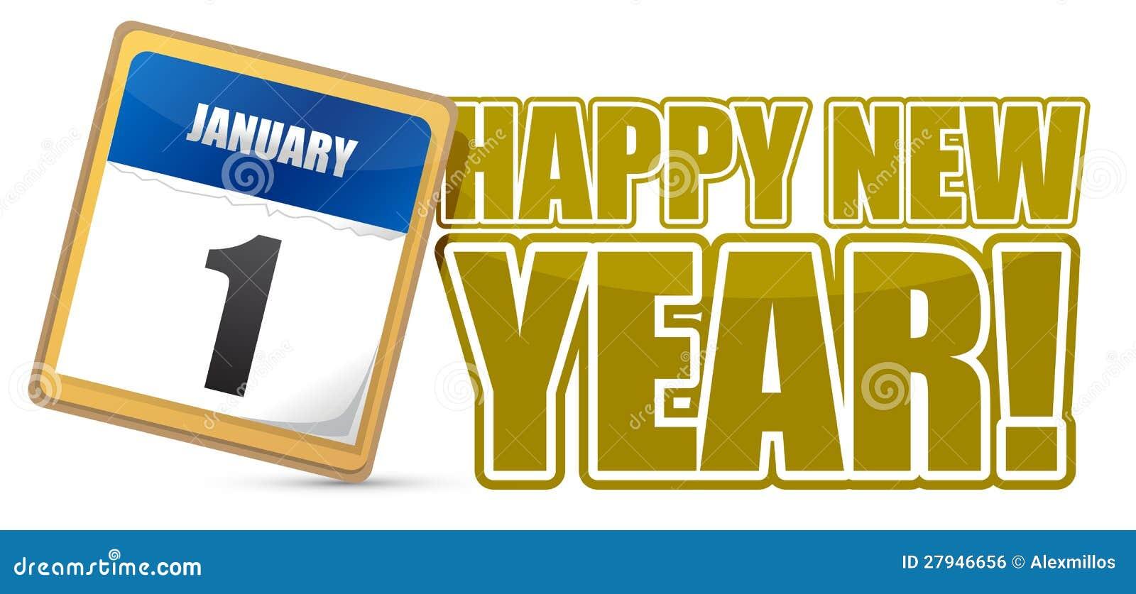 Happy New Year Calendar : Happy new year sign calendar royalty free stock image