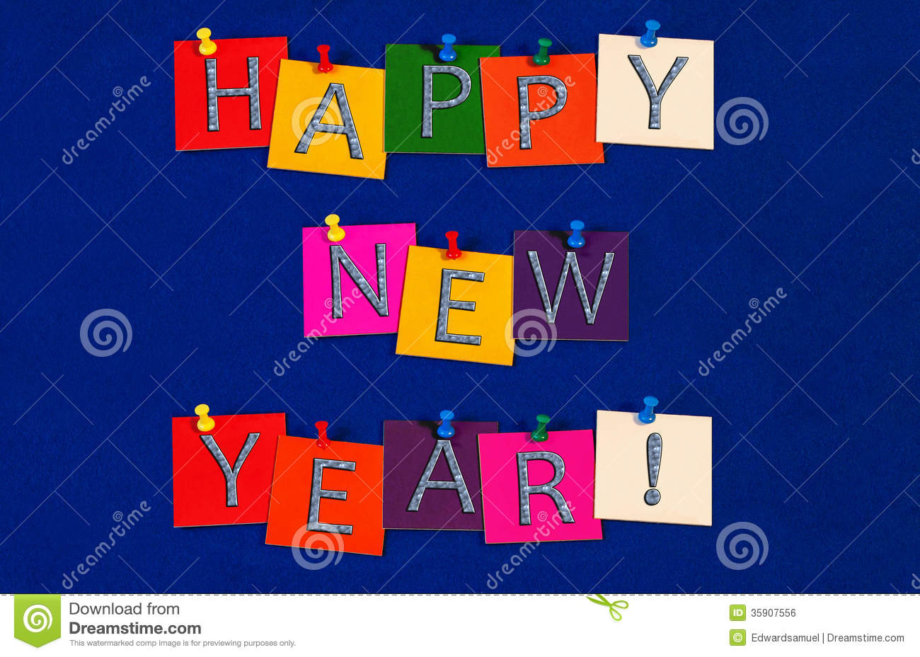 Happy New Year ! Sign For New Years Eve Celebrations Stock Photo ...
